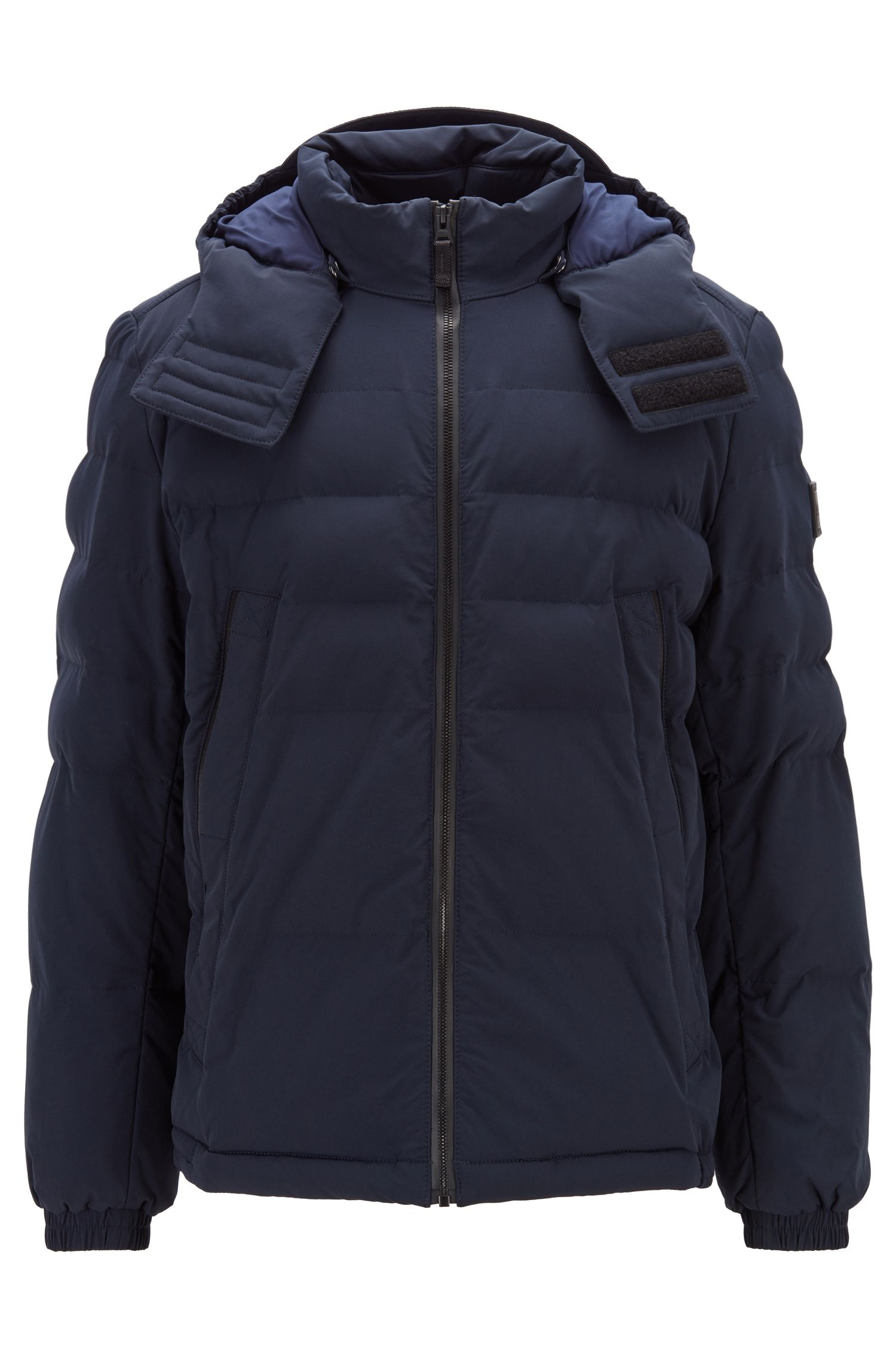 Water-repellent padded jacket in four-way stretch fabric, Dark Blue