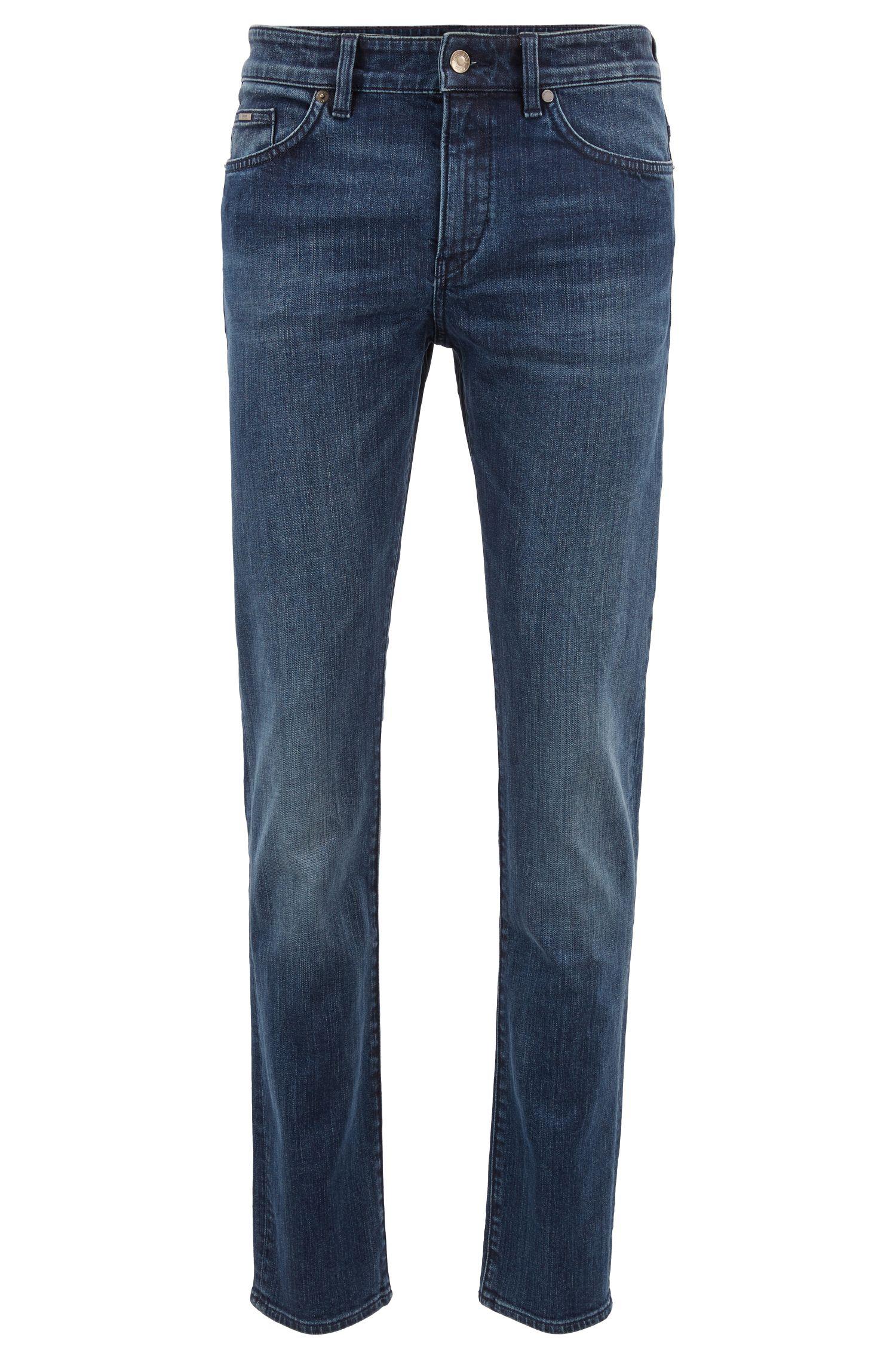 Slim-fit jeans in indigo stretch denim, Blue