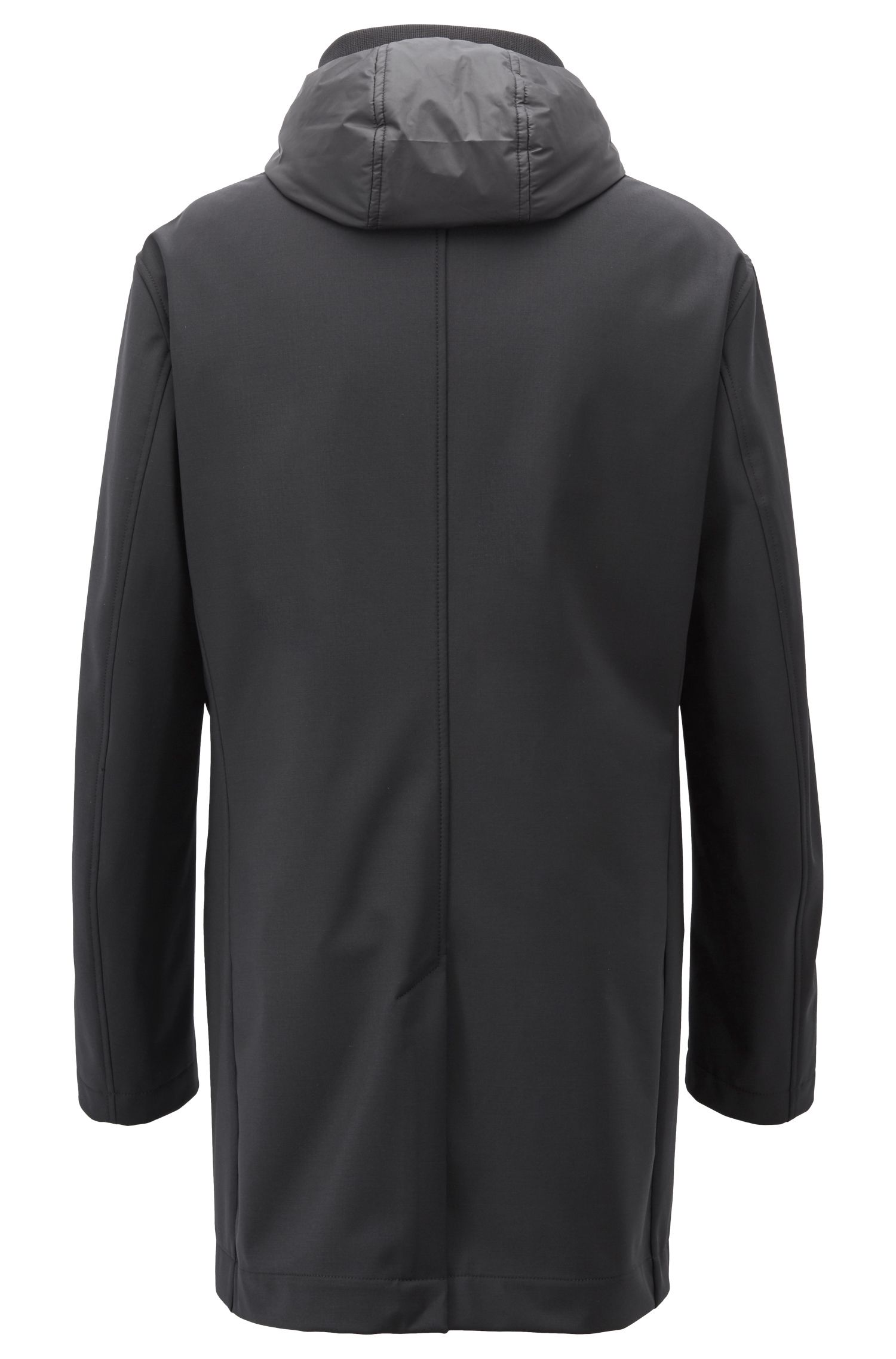 Tailored three-in-one coat with water-repellent finish, Black