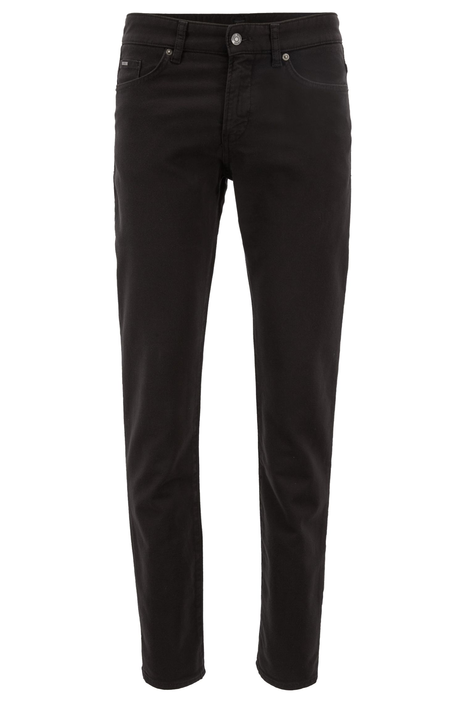 Slim-fit jeans in stretch French terry, Black