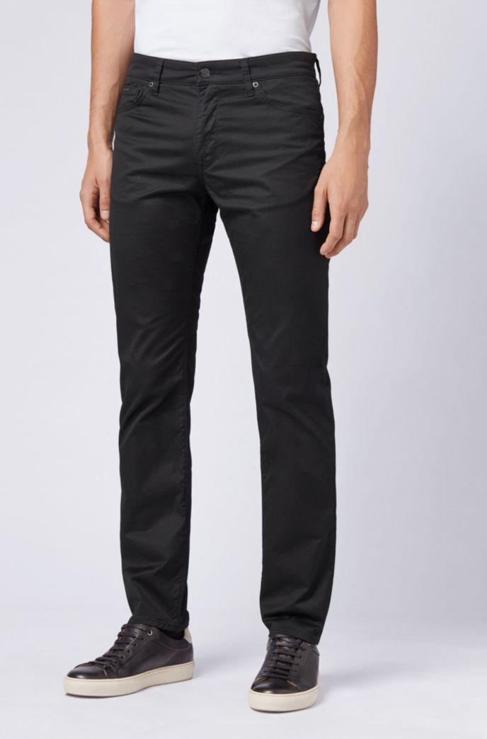 Regular-fit jeans in washed stretch denim