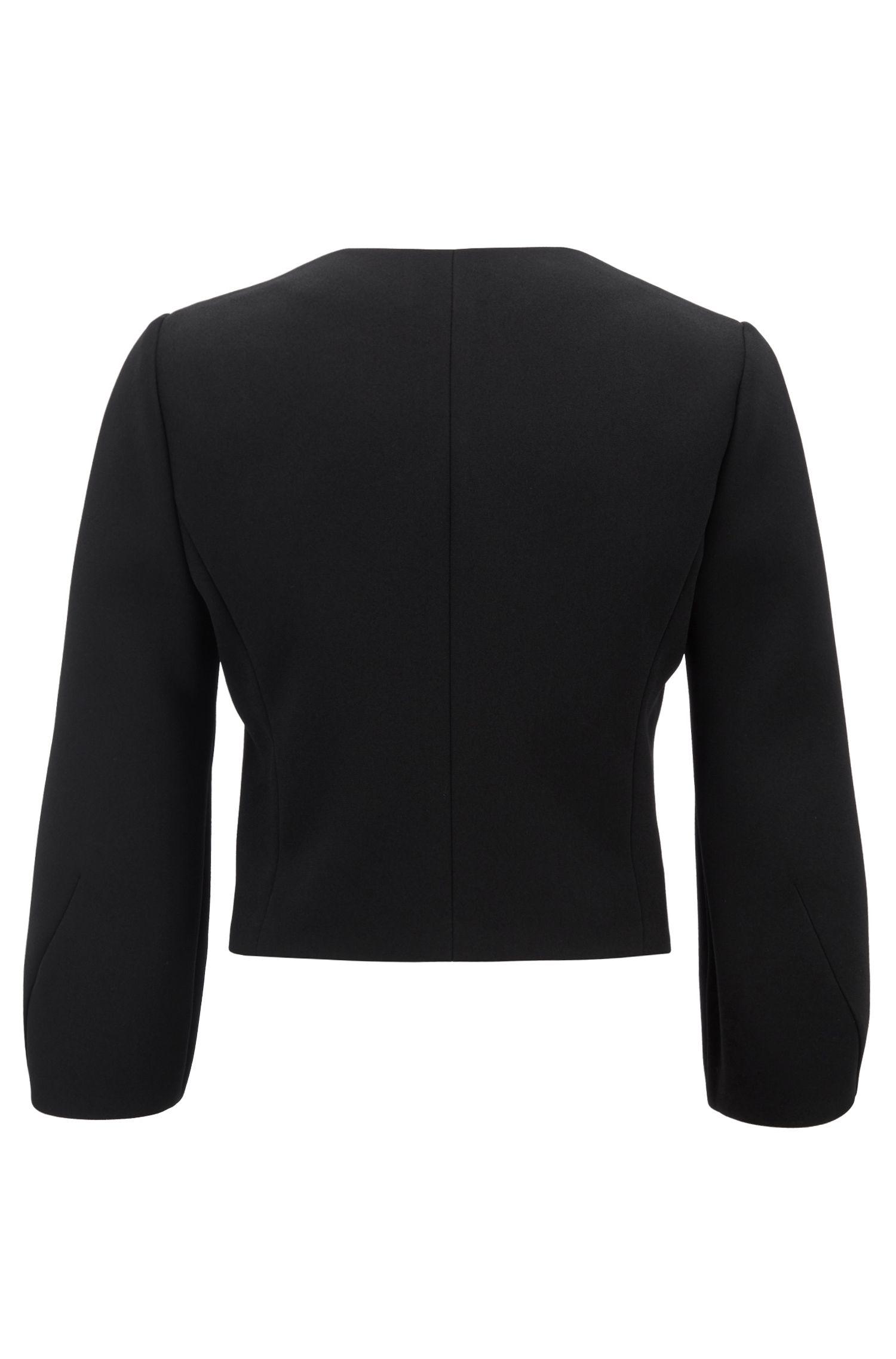 Regular-fit blazer in bonded Japanese crepe, Patterned