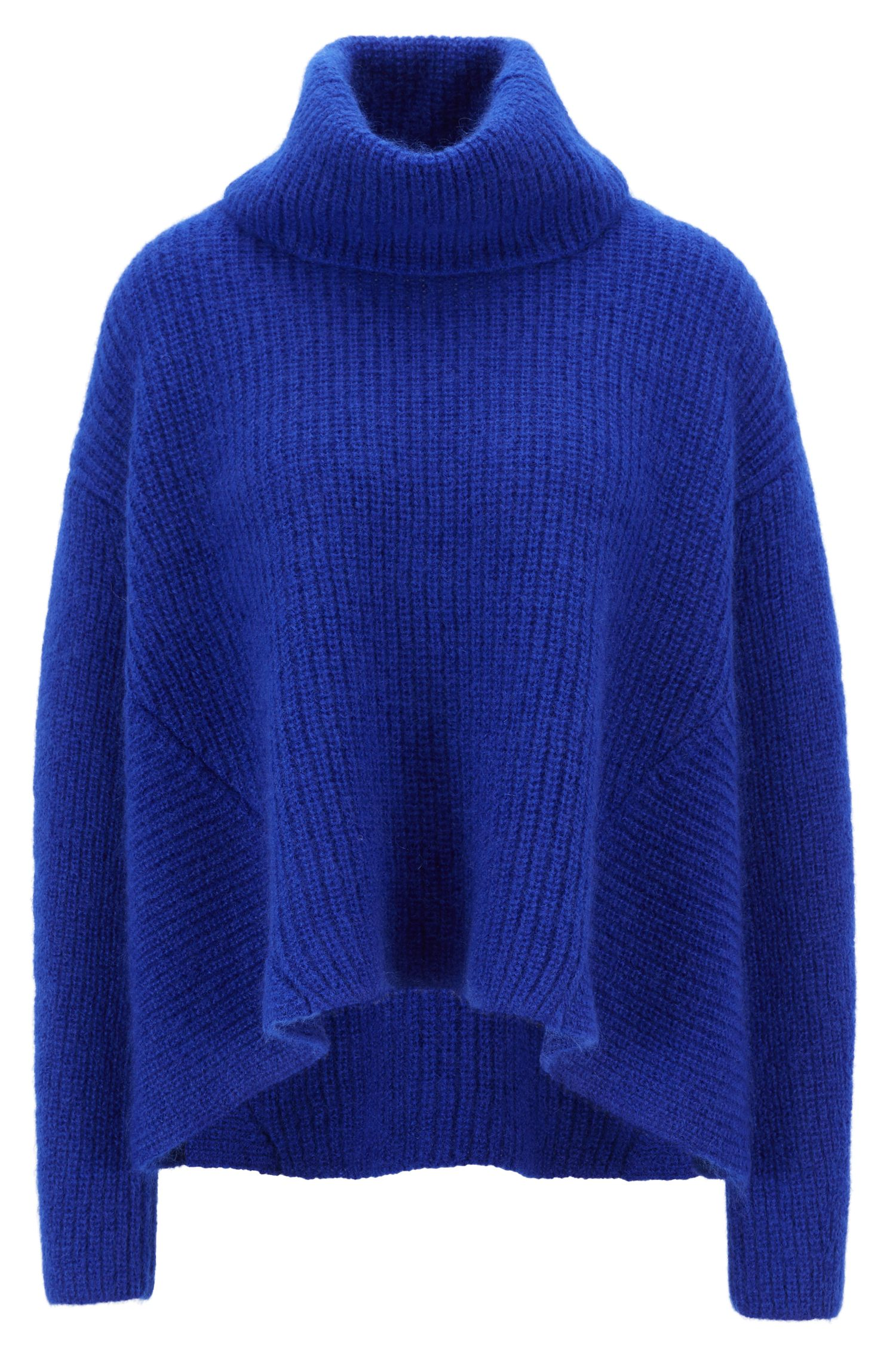 Gallery Collection oversized-fit sweater in a wool blend, Blue