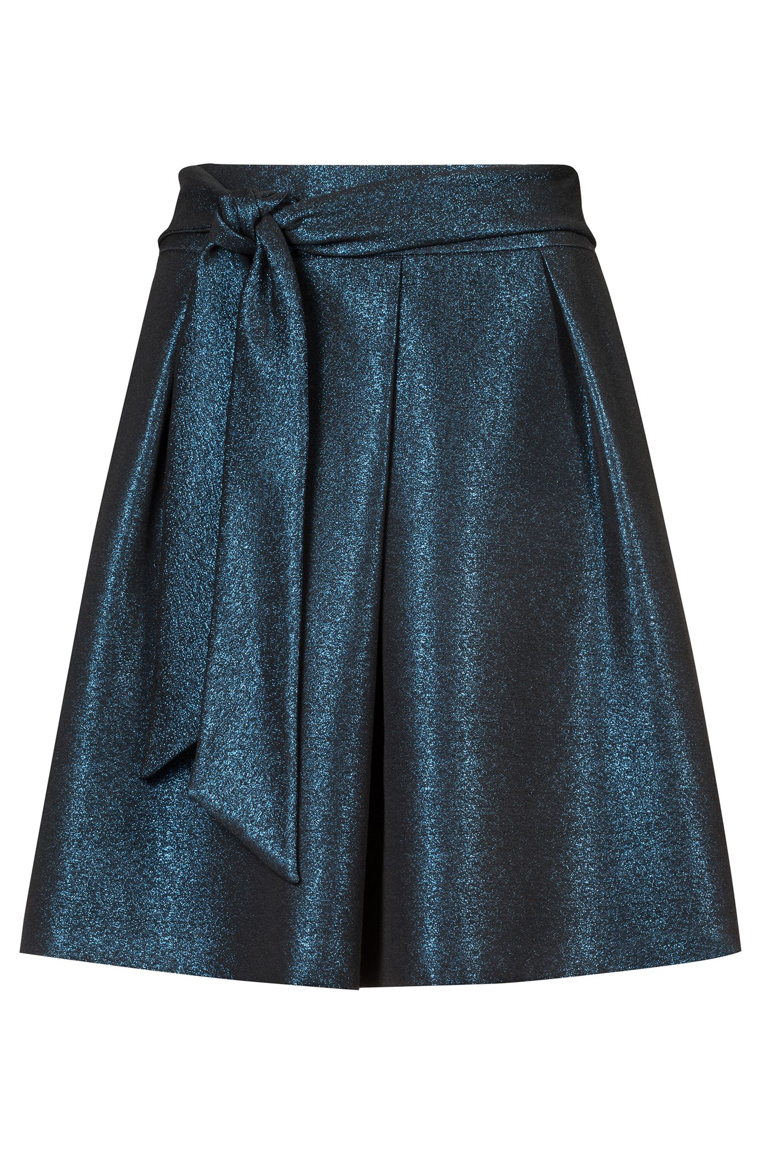High-rise A-line skirt in sparkly fabric, Patterned