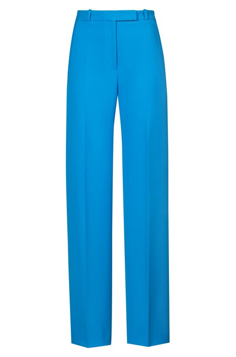 Regular-fit tailored pants in stretch fabric, Open Blue