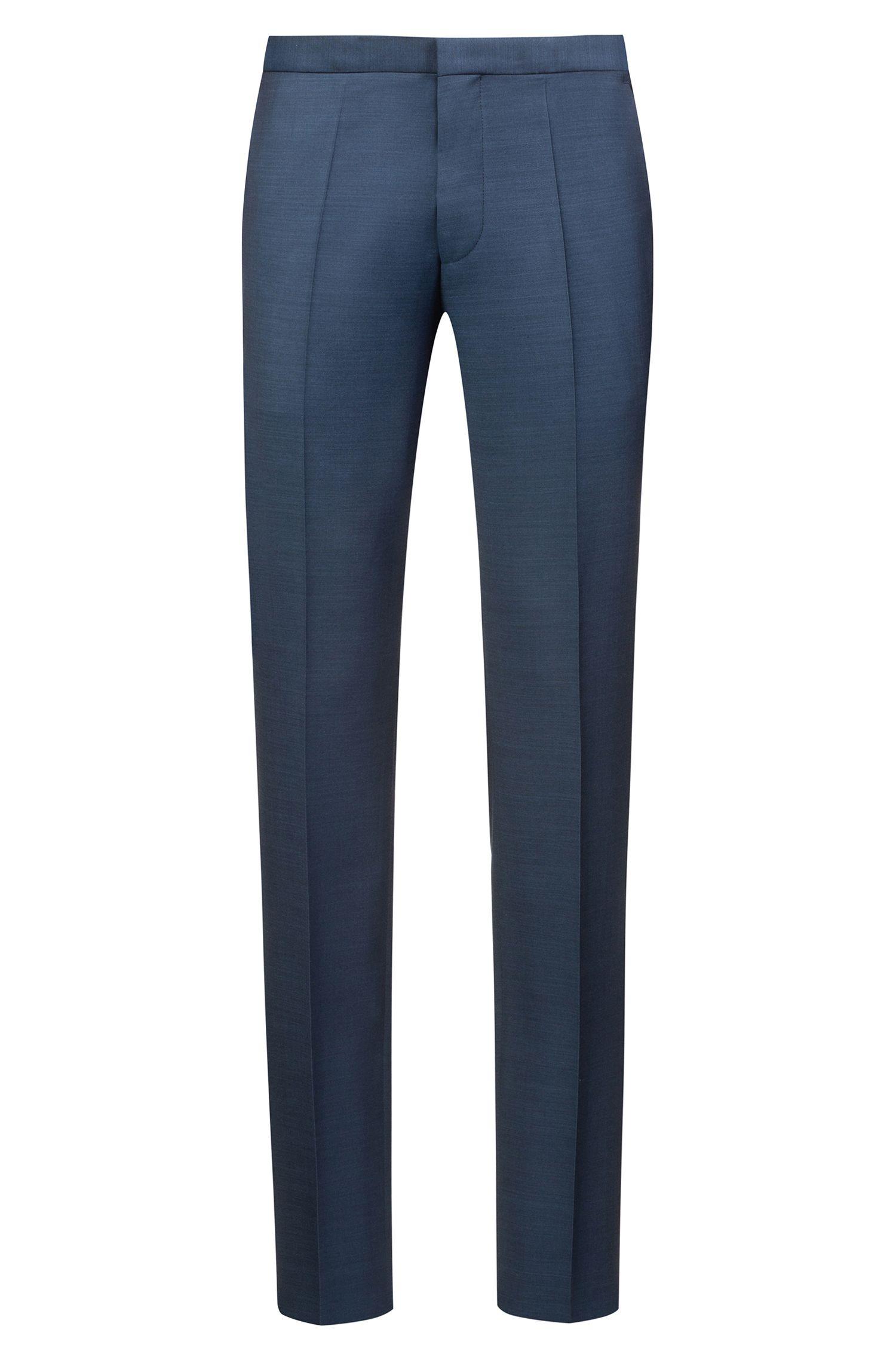Extra-slim-fit tuxedo in virgin-wool micro twill, Dark Blue
