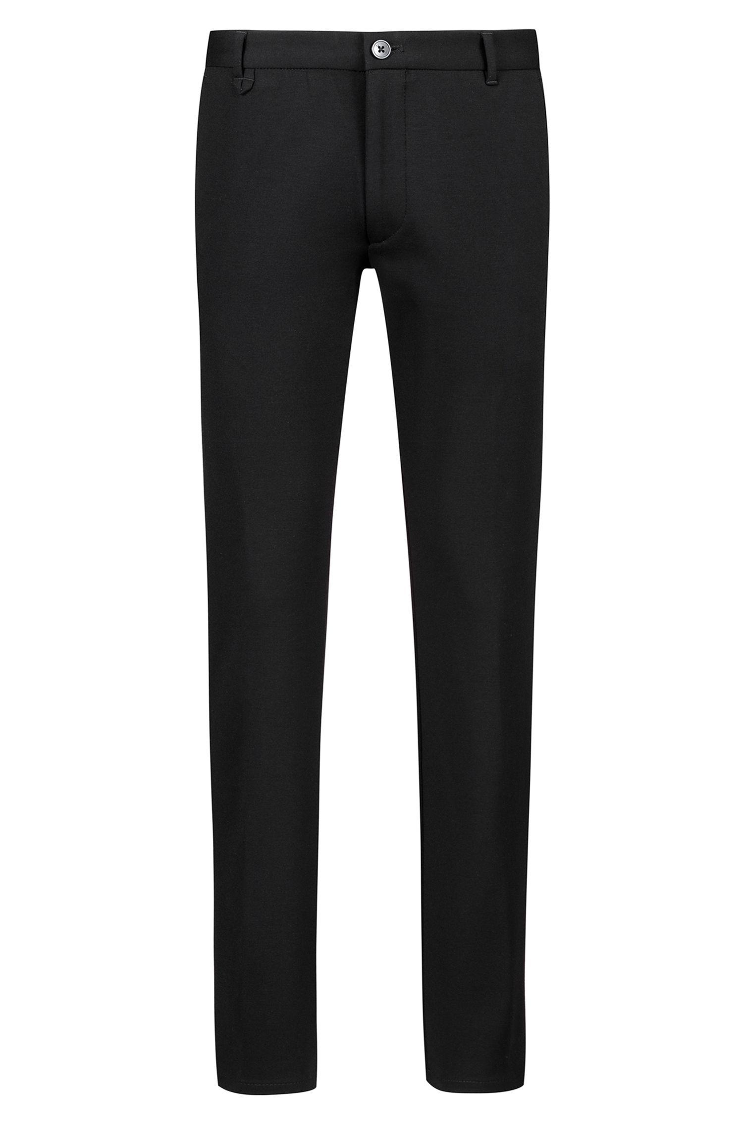 Extra-slim-fit stretch-jersey pants, Black