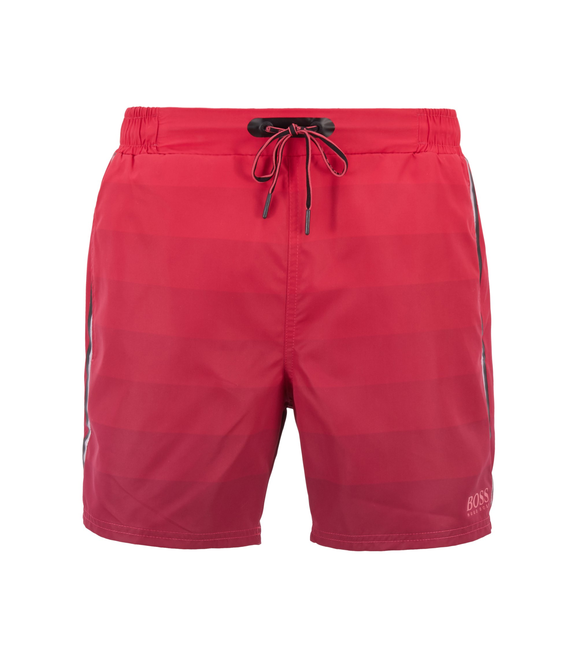 Quick-dry swim shorts with dégradé print and zippered pockets, Open Pink