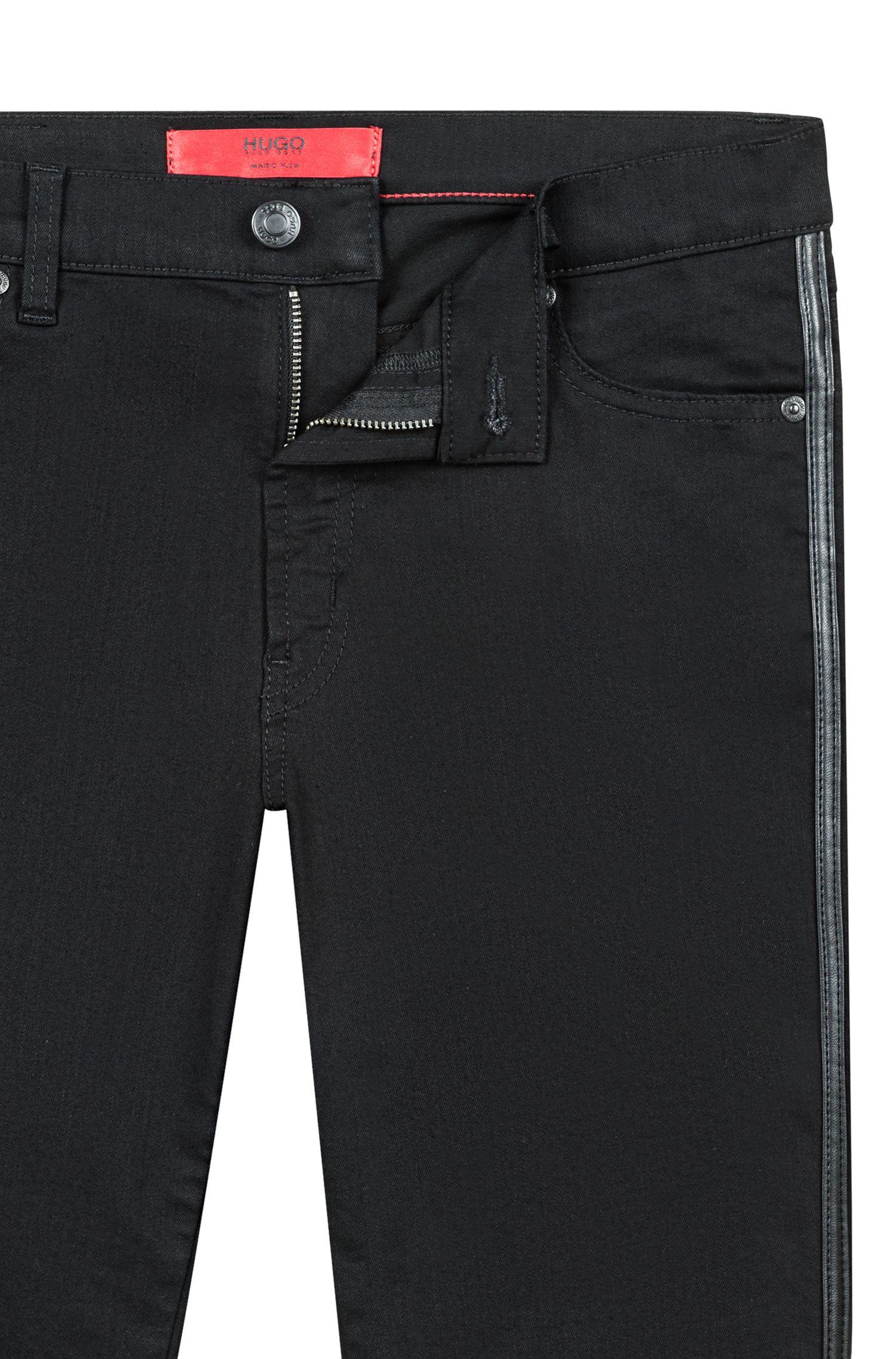 Extra-slim-fit jeans in Italian super-stretch denim, Black