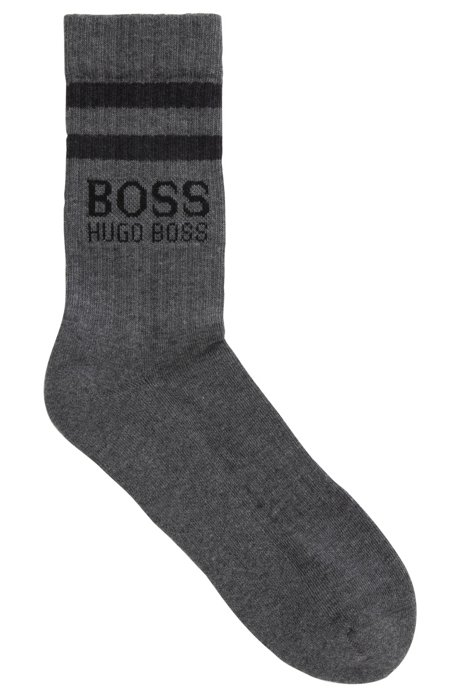 Sporty socks in a combed cotton blend, Grey