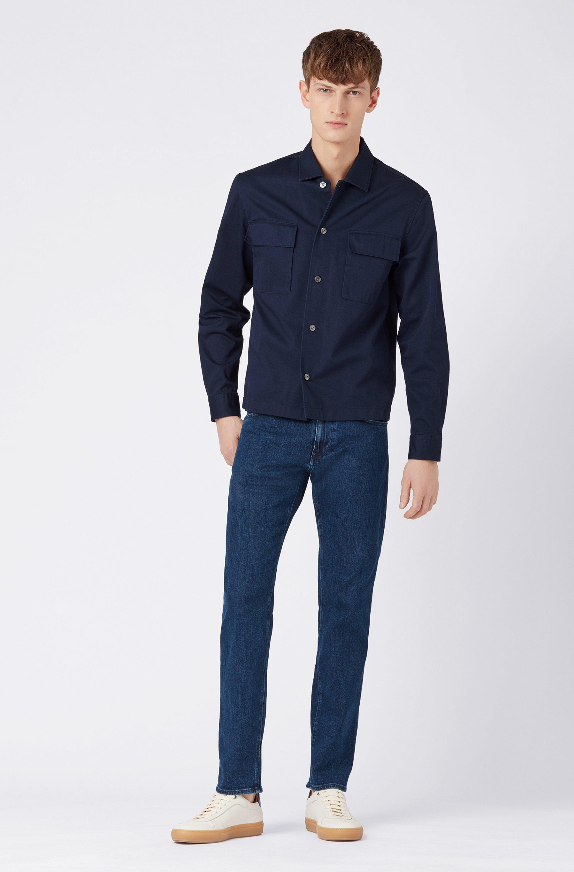 Regular-fit jeans in BCI-cotton stretch denim