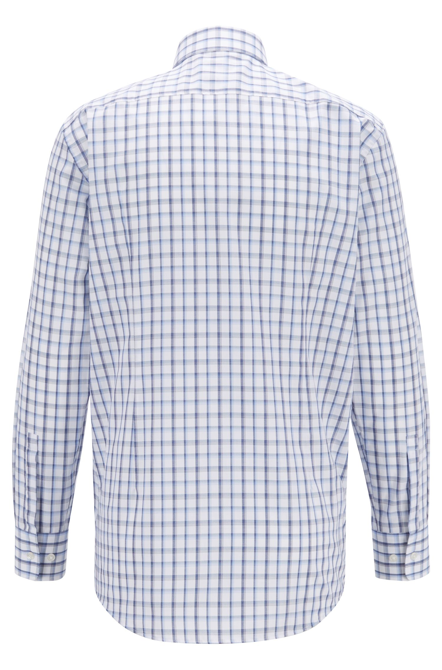 Sharp-fit shirt in Oxford cotton with Vichy check, Blue