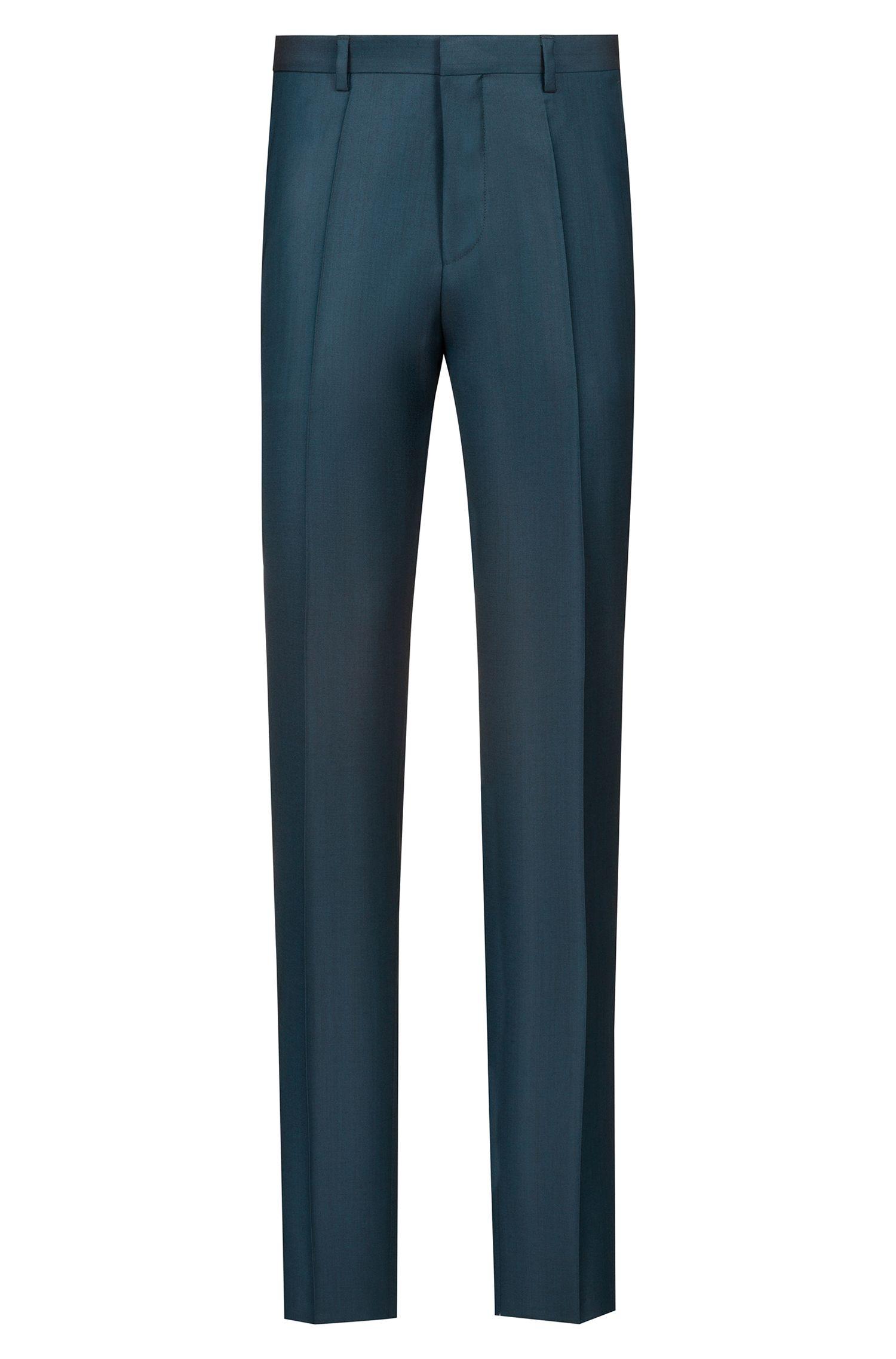 Extra-slim-fit suit in an Italian wool blend, Dark Green
