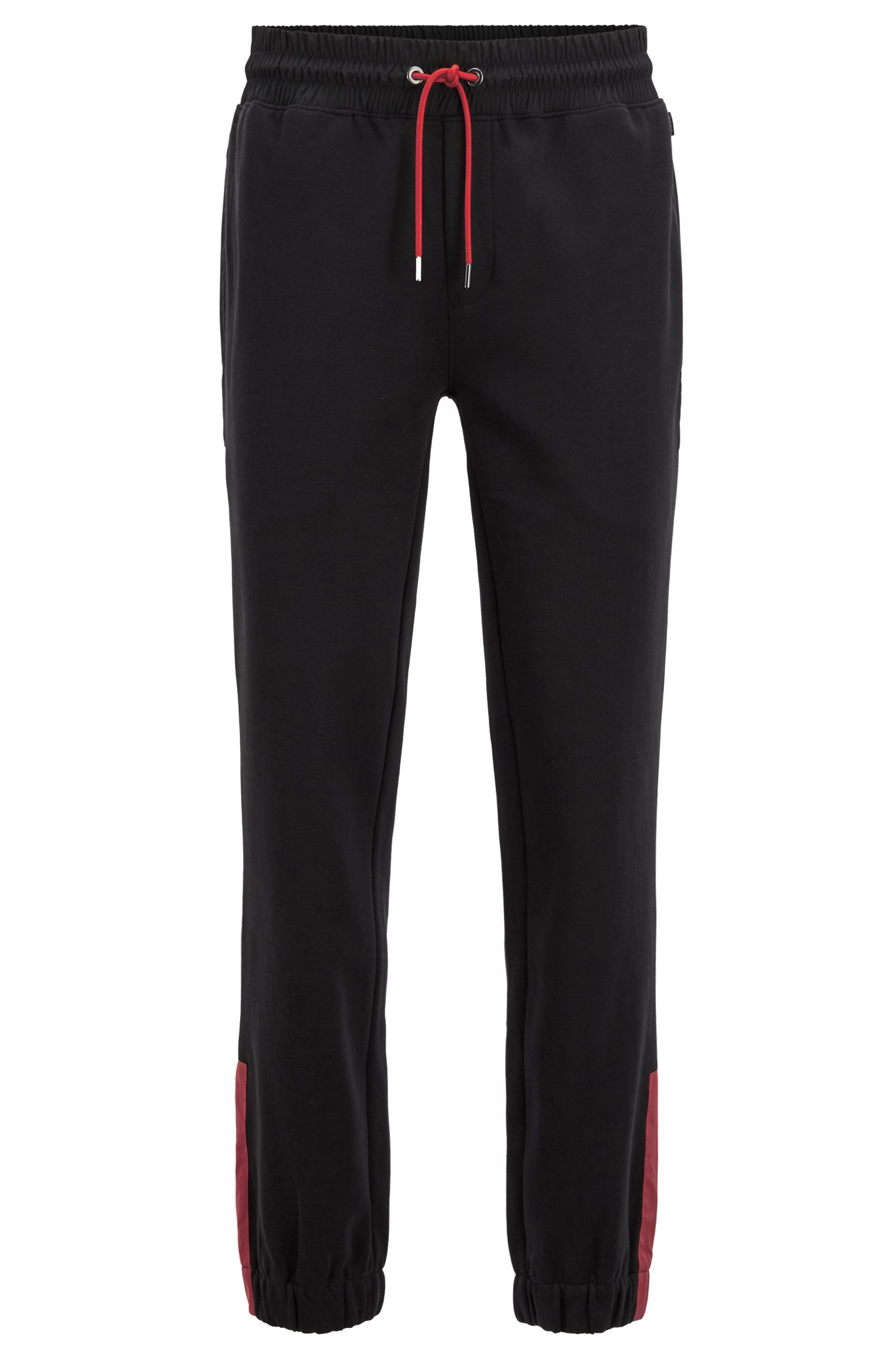 Regular-fit jersey pants with Jeremyville-inspired pig motif, Black