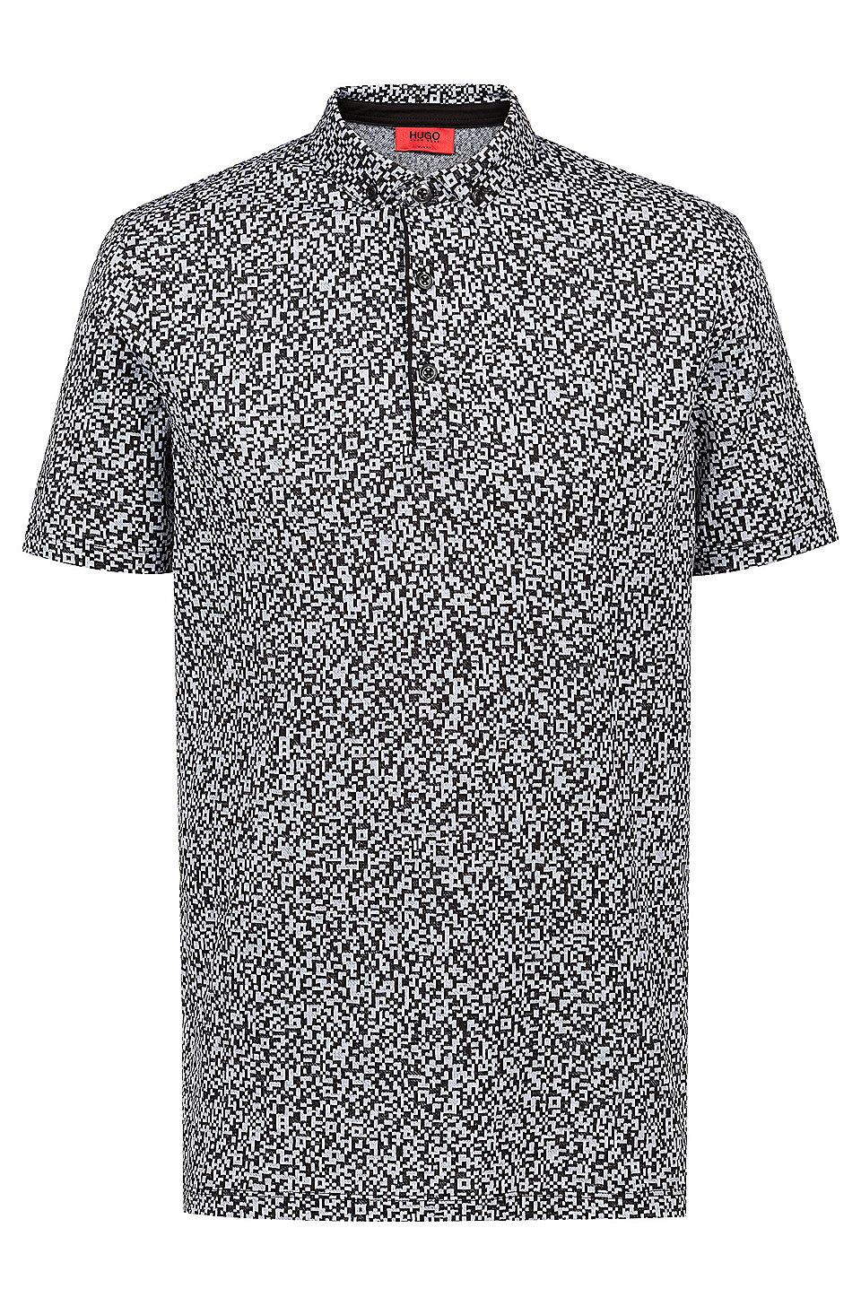 276869bf HUGO - Slim-fit polo shirt in mercerized cotton jacquard