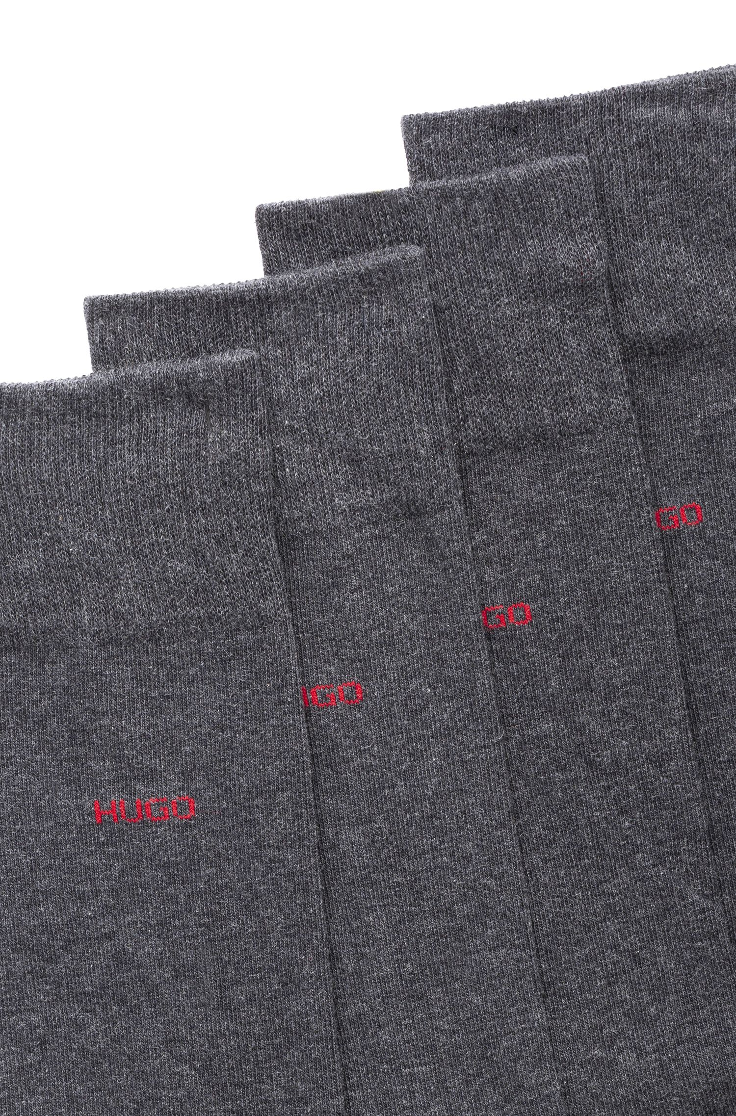 Two-pack of regular-length cotton-blend socks, Charcoal
