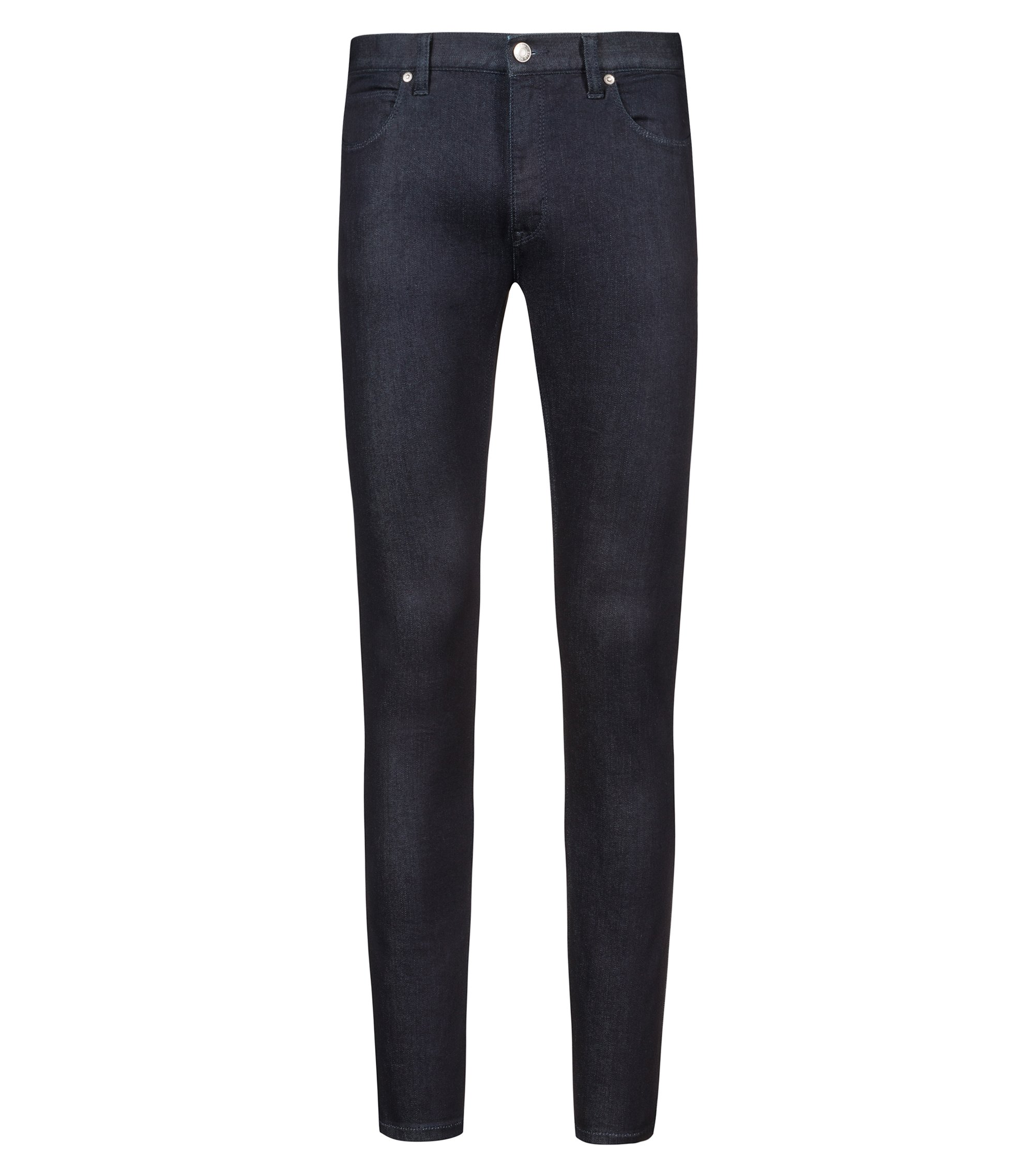 Low-rise skinny-fit jeans in stretch denim, Dark Blue