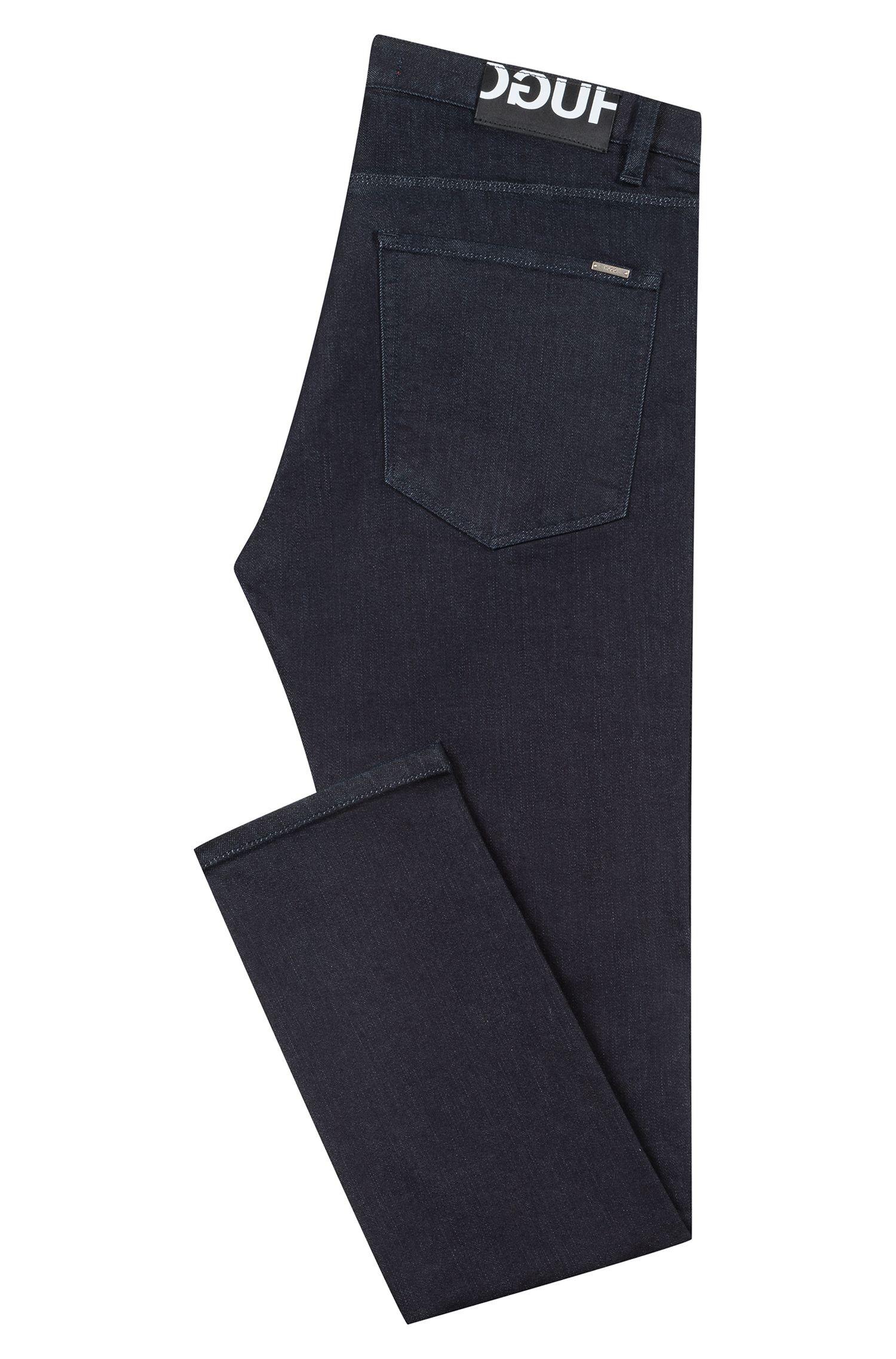 Low-rise skinny-fit jeans in stretch denim, Dark Blue