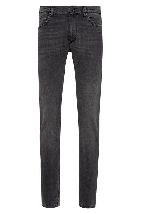Skinny-fit jeans in mid-gray stretch denim, Grey