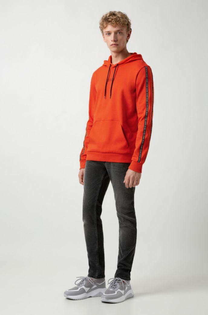 Skinny-fit jeans in mid-gray stretch denim