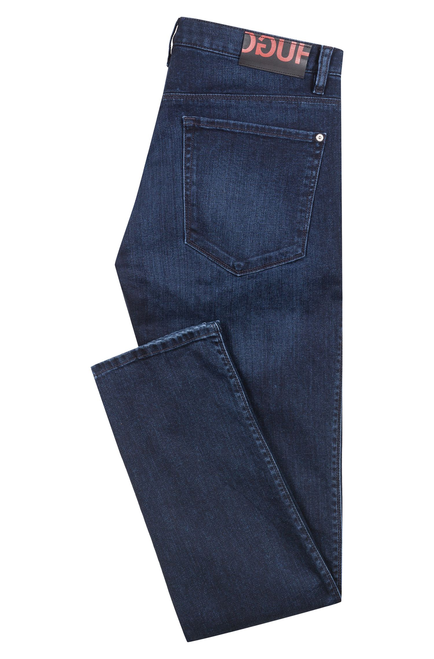 Slim-fit low-rise jeans in stretch denim, Dark Blue