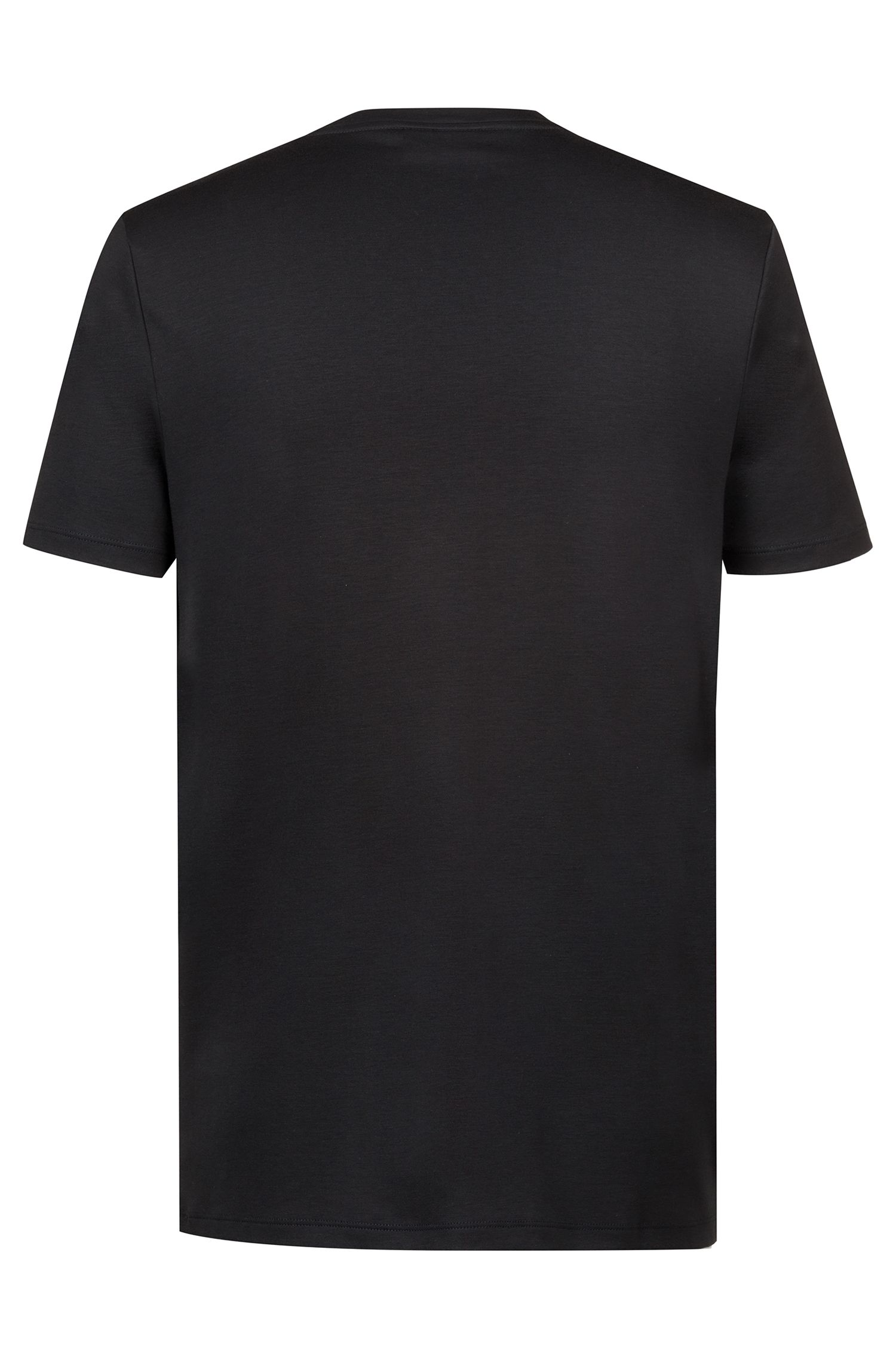 Relaxed-fit T-shirt in cotton with embossed print, Black