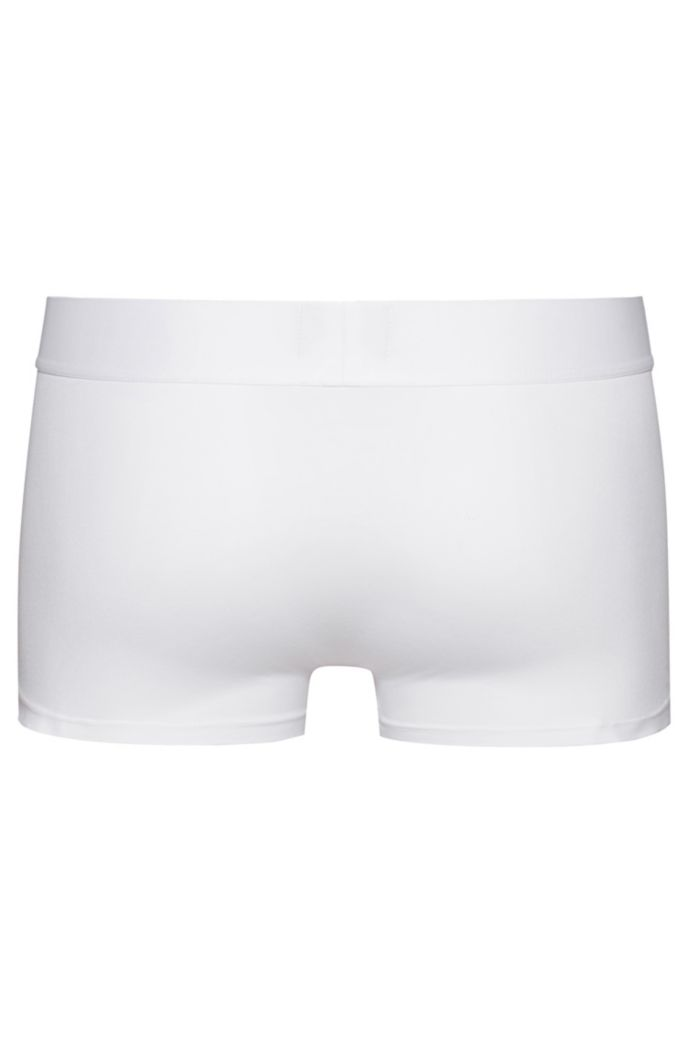 Stretch-cotton trunks with reverse-logo waistband