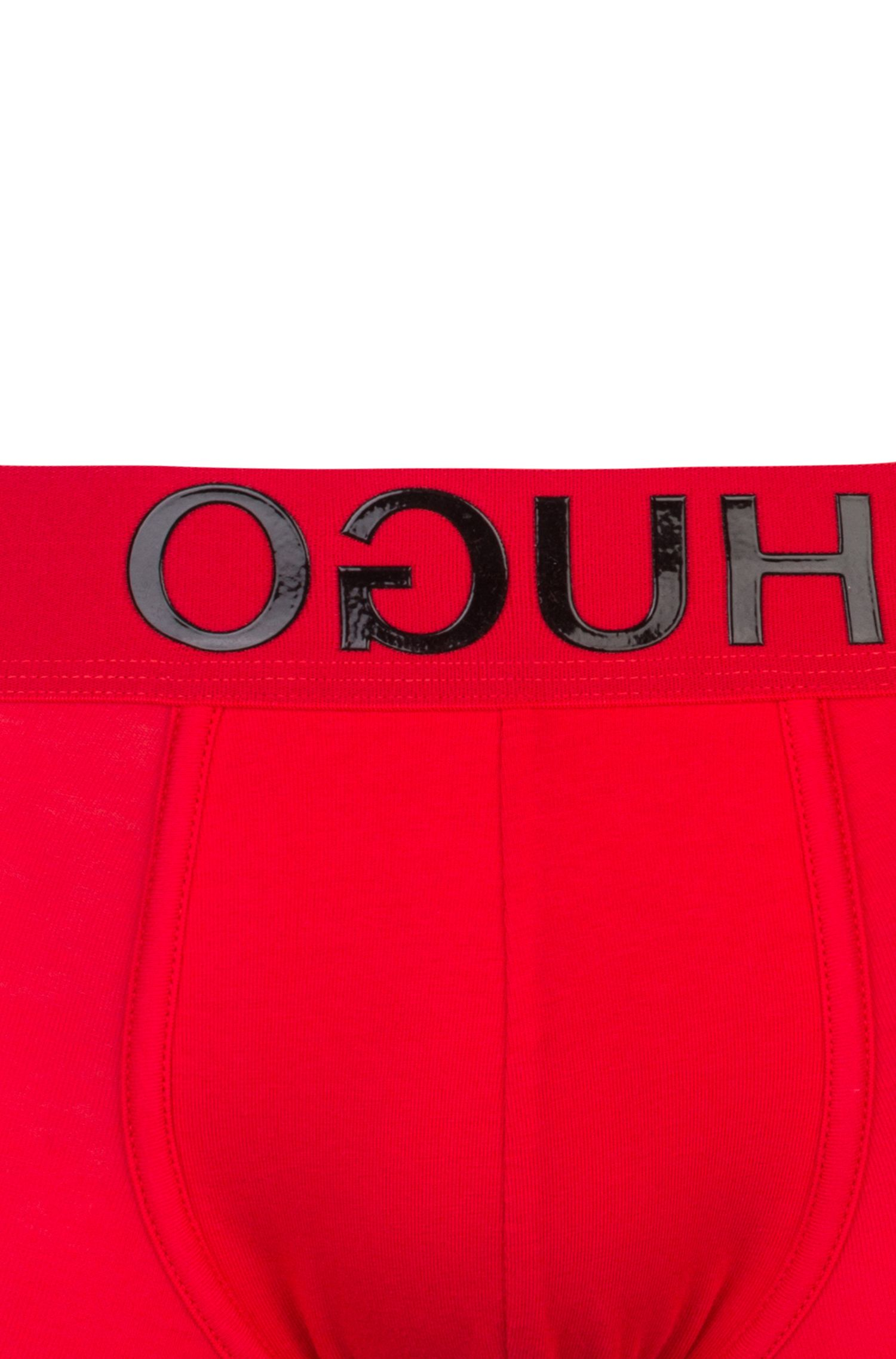 Stretch-cotton trunks with reverse-logo waistband, Open Pink