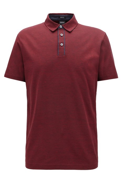 Regular-fit polo shirt in super-fine cotton, Red