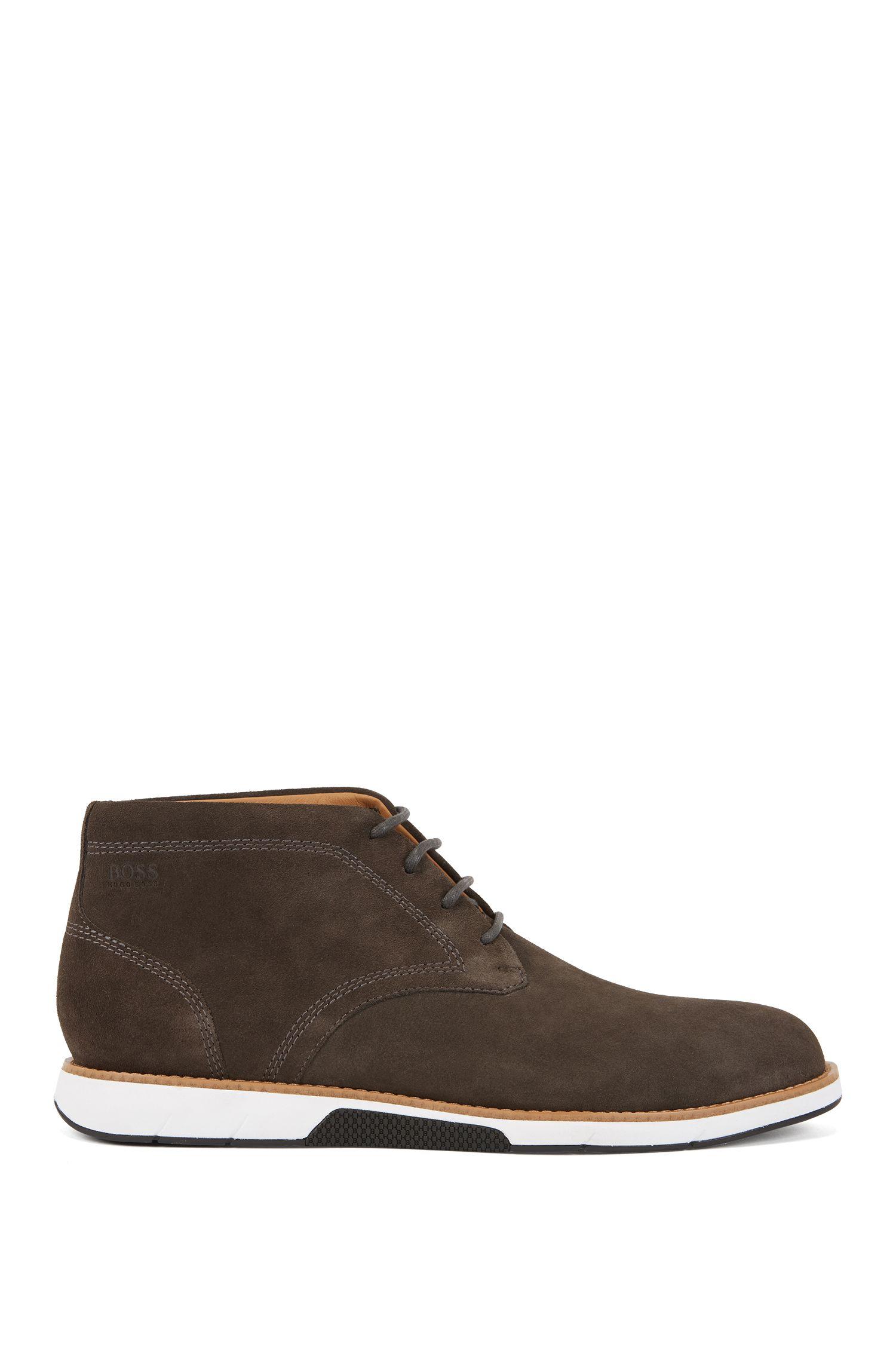 Suede desert boots with EVA-rubber sole, Dark Grey
