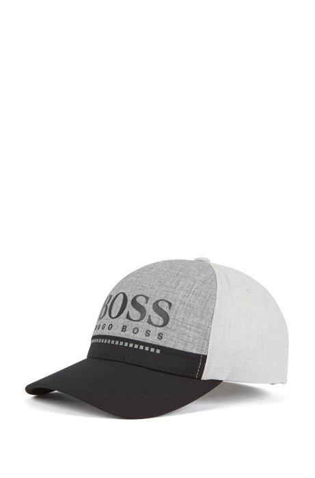 BOSS - Rubber-print logo cap in technical melange jersey c0fe27511bbb