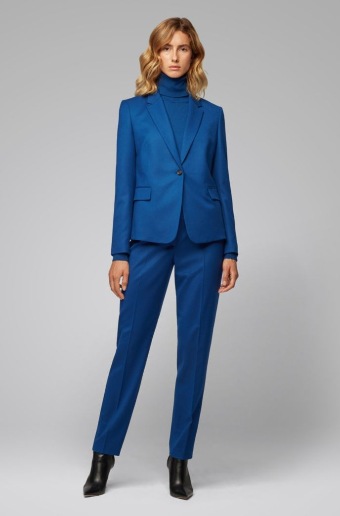 Cropped slim-fit pants in stretch-wool flannel