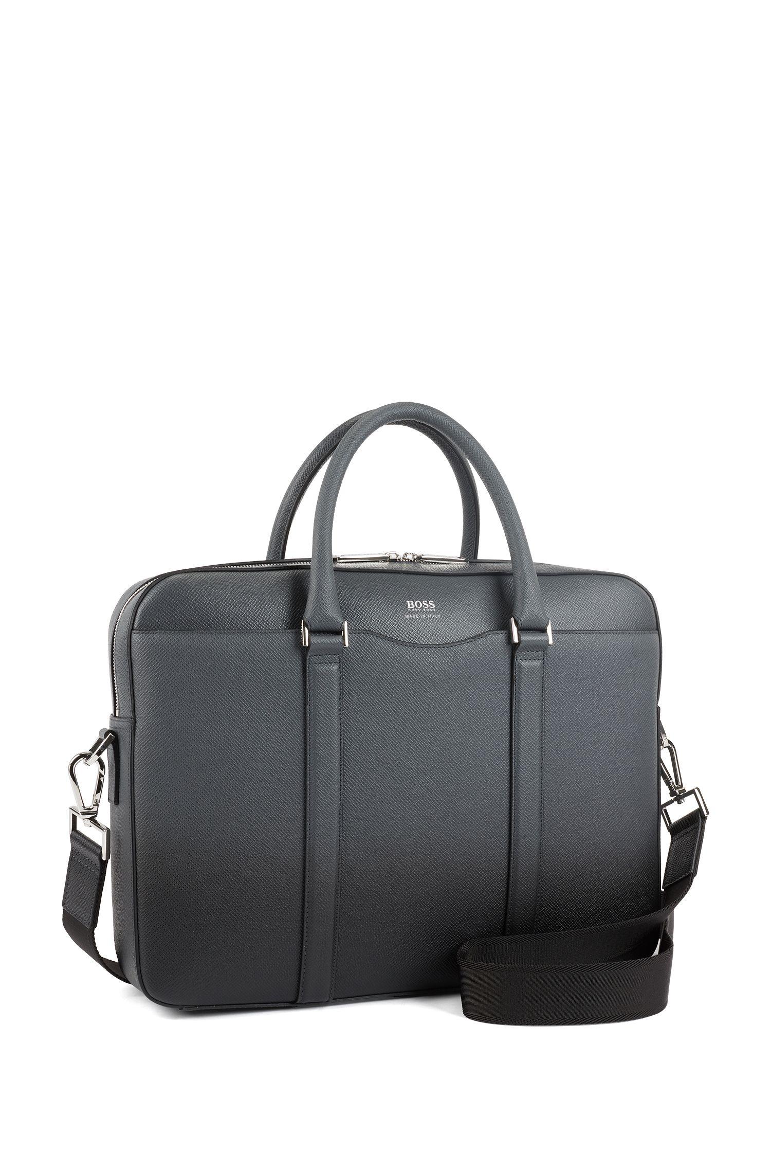 Signature Collection bag in dégradé palmellato leather, Charcoal