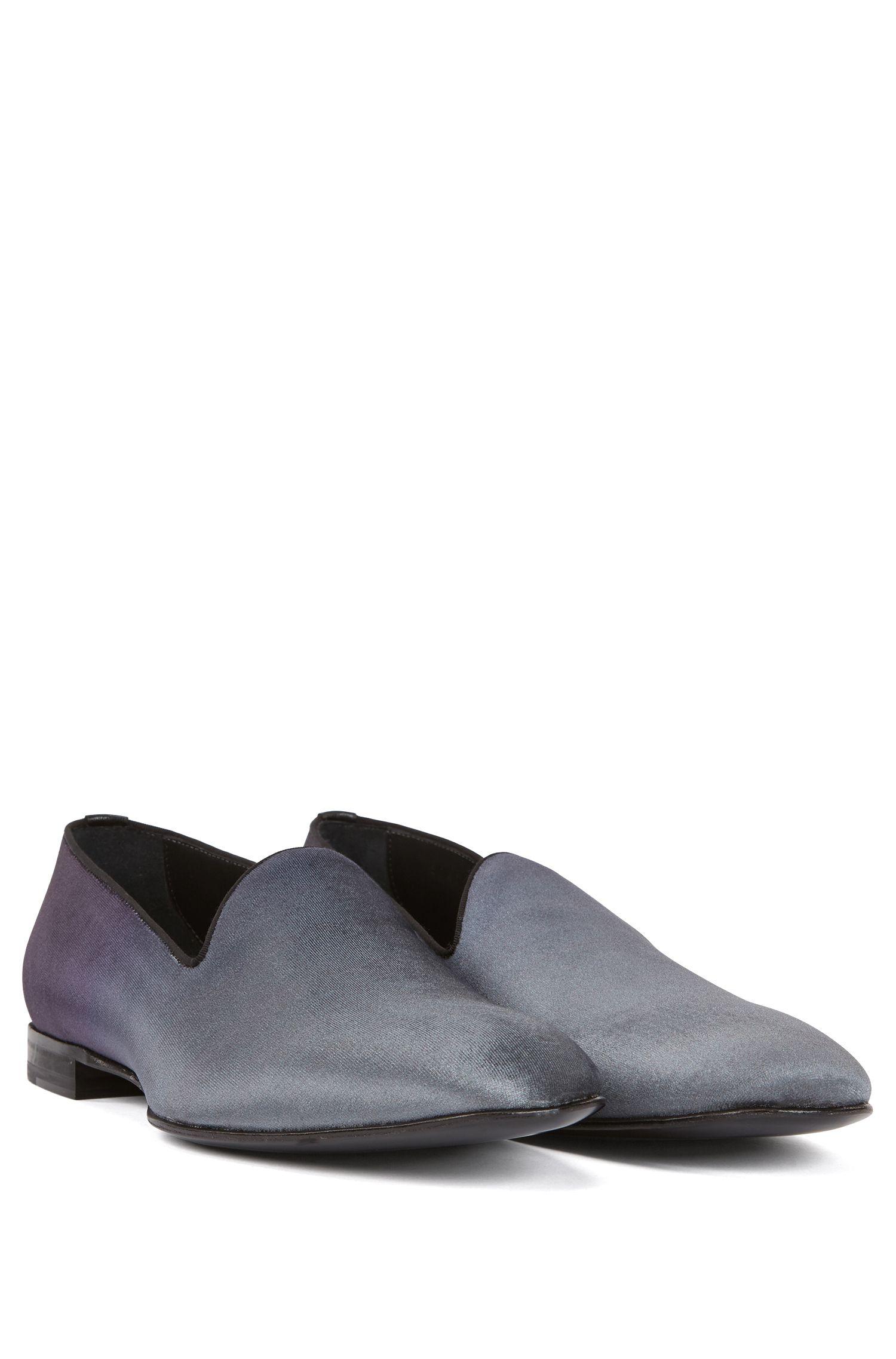 Slip-on evening shoes in dégradé velvet, Open Grey