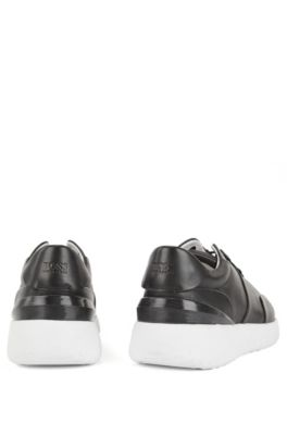2ba78ea9f44 BOSS - Leather sneakers with pumped-up outsole