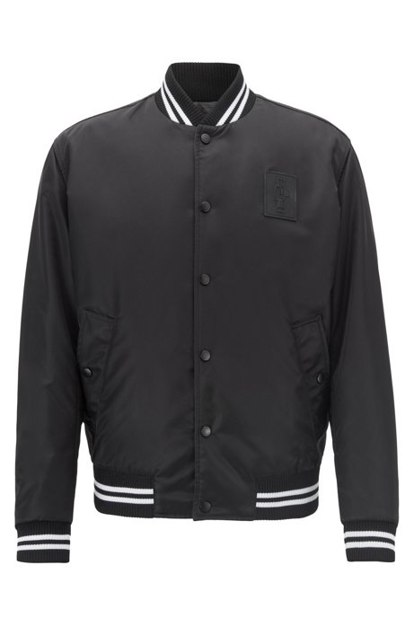 Black With Jeremyville Reversible Edition Details Bomber Jacket Satin Limited 6npSwTB8w