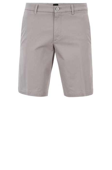 94349a9df BOSS - Slim-fit shorts in satin-touch stretch fabric
