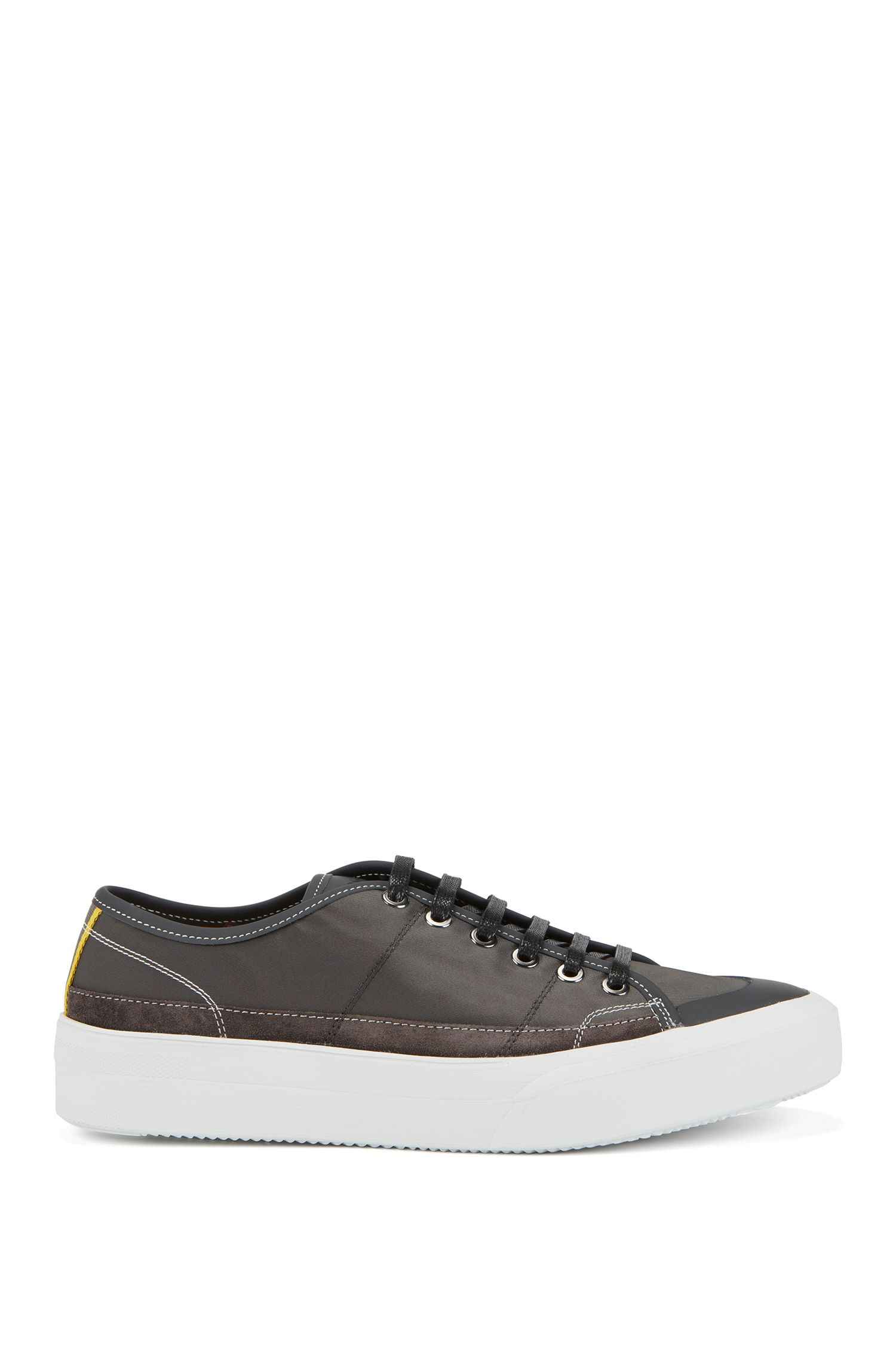 Fashion Show Capsule low-top sneakers with rubber sole, Dark Grey