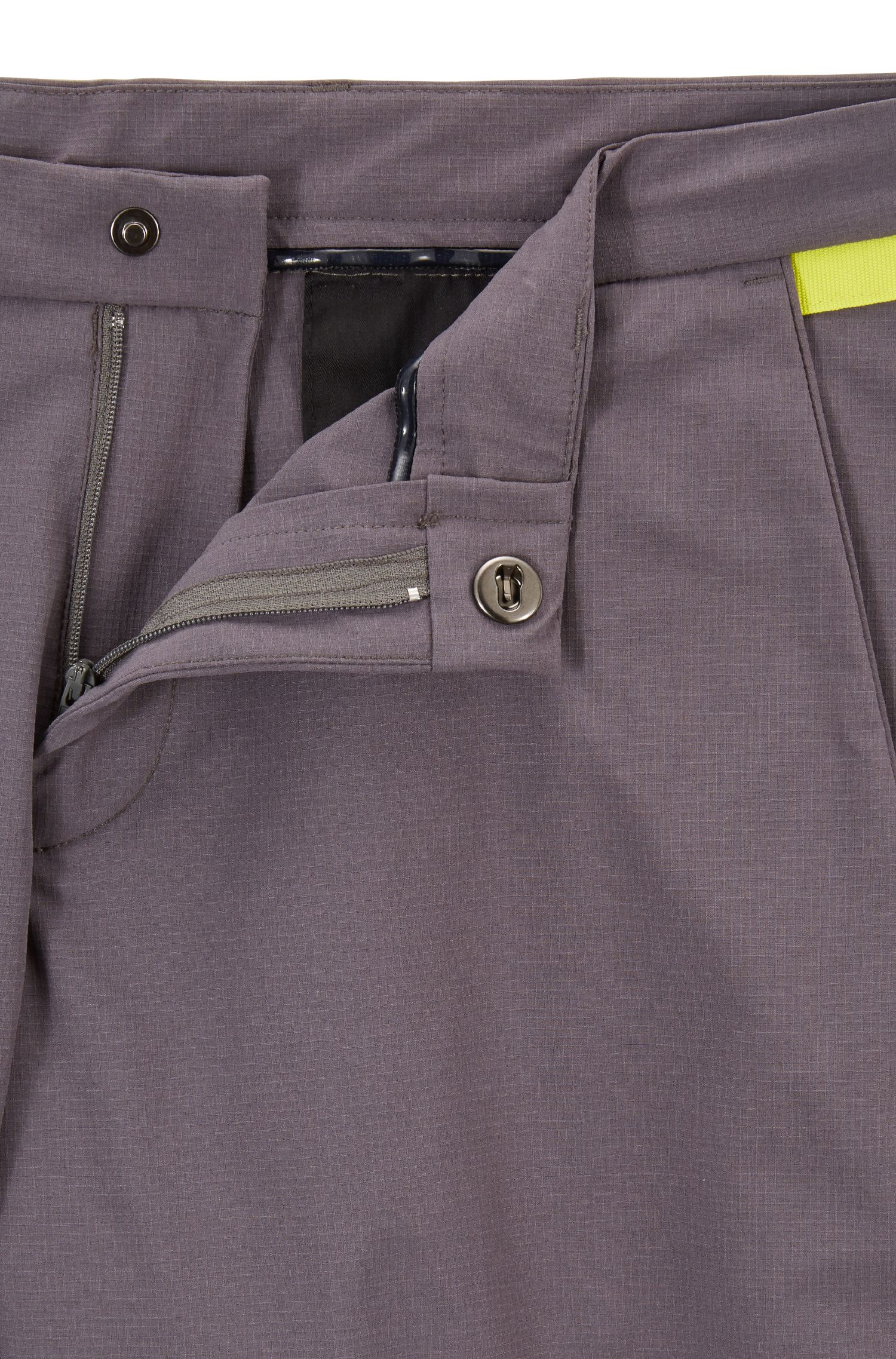Extra-slim-fit pants in moisture-wicking stretch fabric, Grey