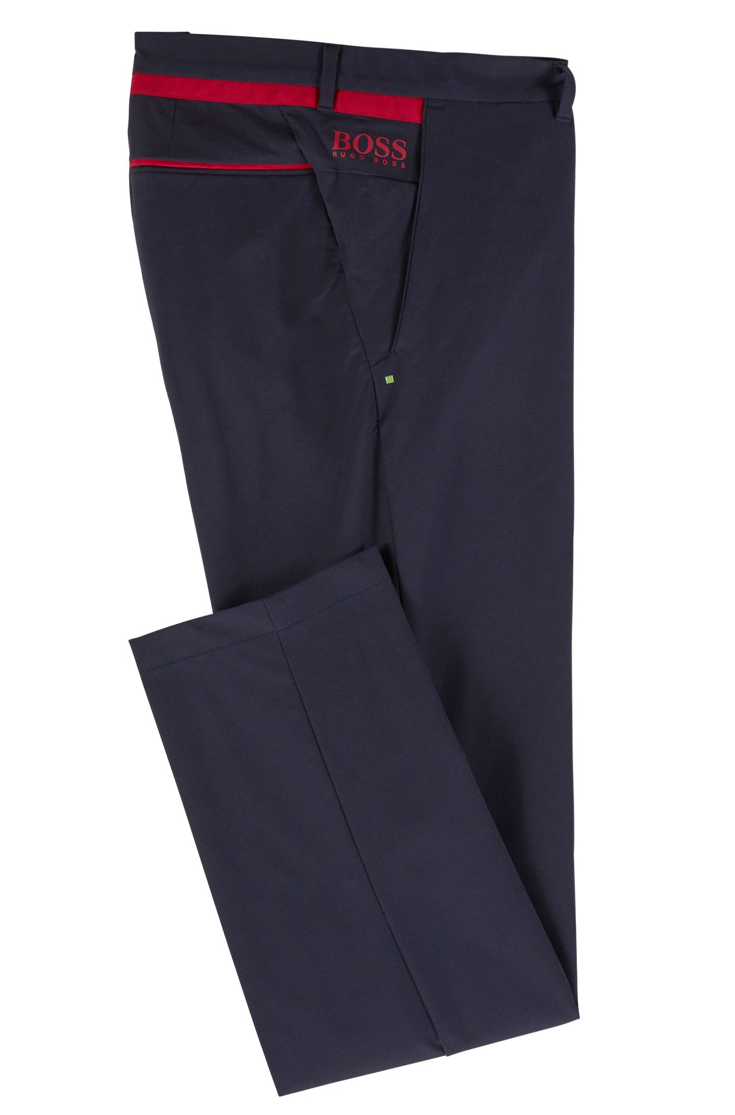Extra-slim-fit pants in moisture-wicking stretch fabric, Dark Blue
