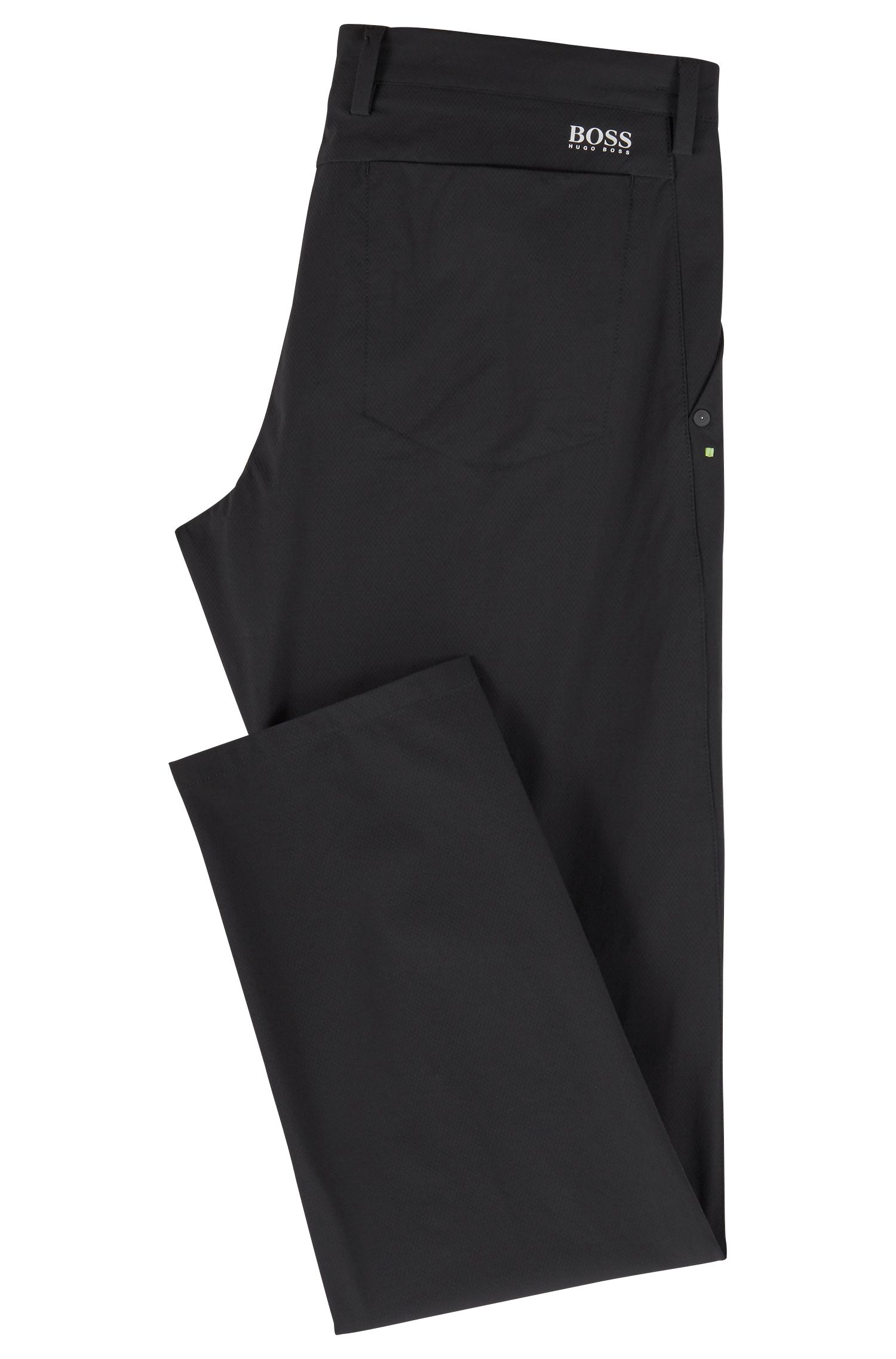 Extra-slim-fit trousers in moisture-wicking stretch fabric, Black