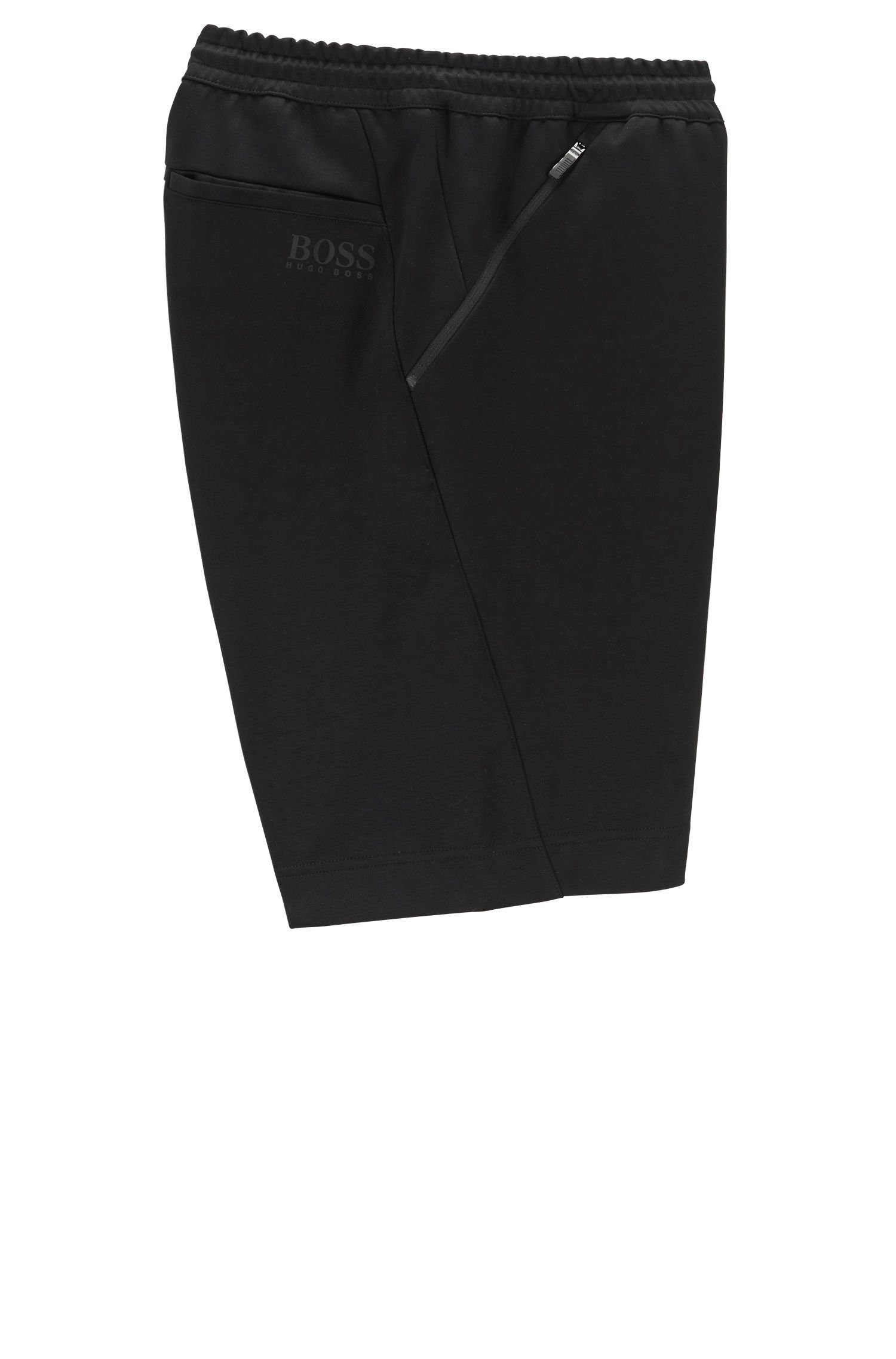Slim-fit shorts in moisture-wicking water-repellent fabric, Black