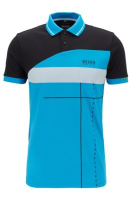 Martin Kaymer regular-fit polo shirt with dynamic artwork, Black