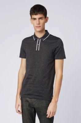 f182ad74 BOSS - Slim-fit polo shirt in Italian cotton