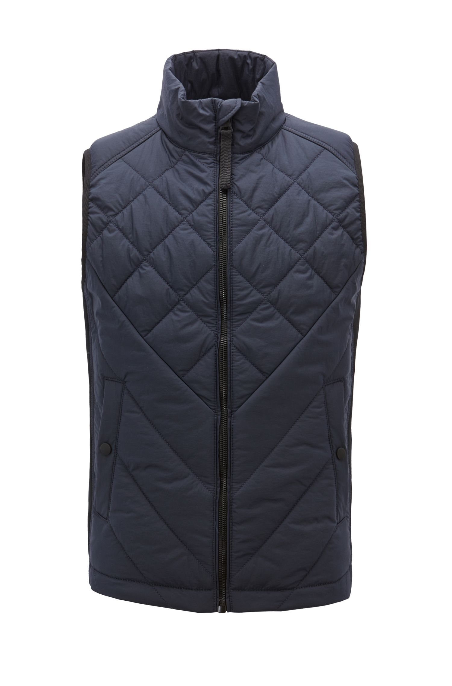 Lightweight water-repellent gilet with PrimaLoft® padding, Dark Blue