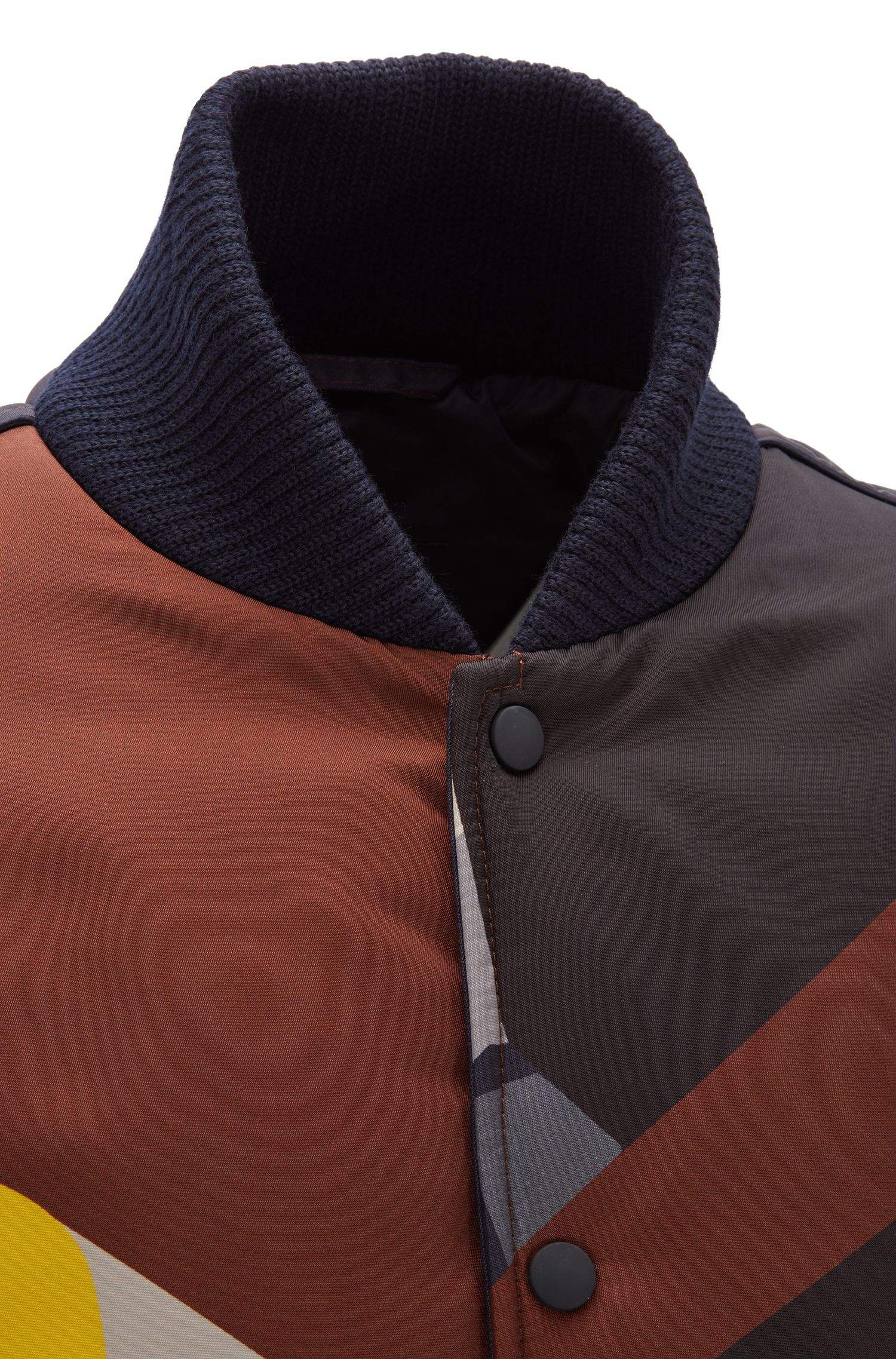Fashion Show Capsule relaxed-fit jacket with college collar, Light Brown