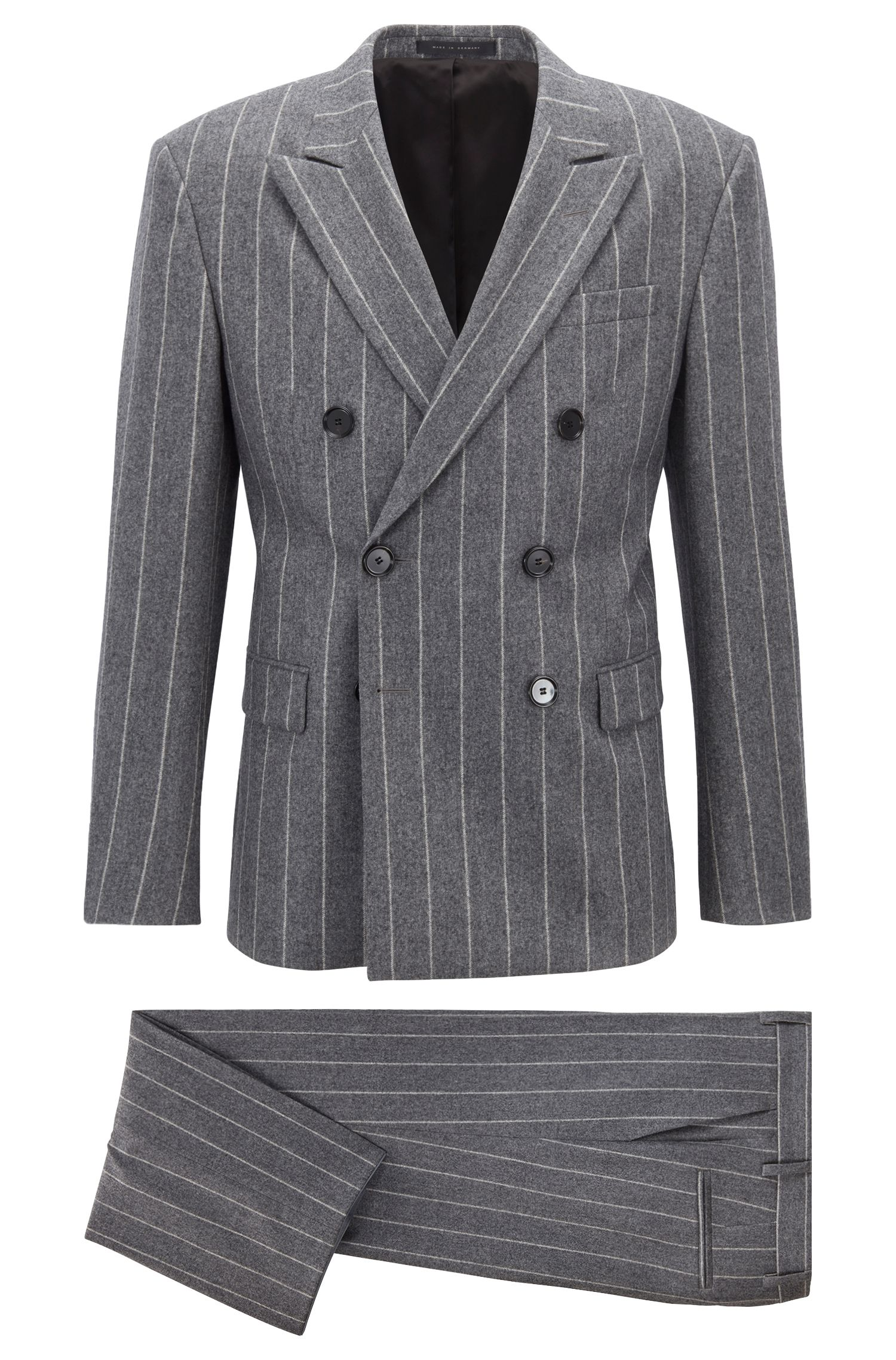Fashion Show Capsule relaxed-fit double-breasted suit, Grey