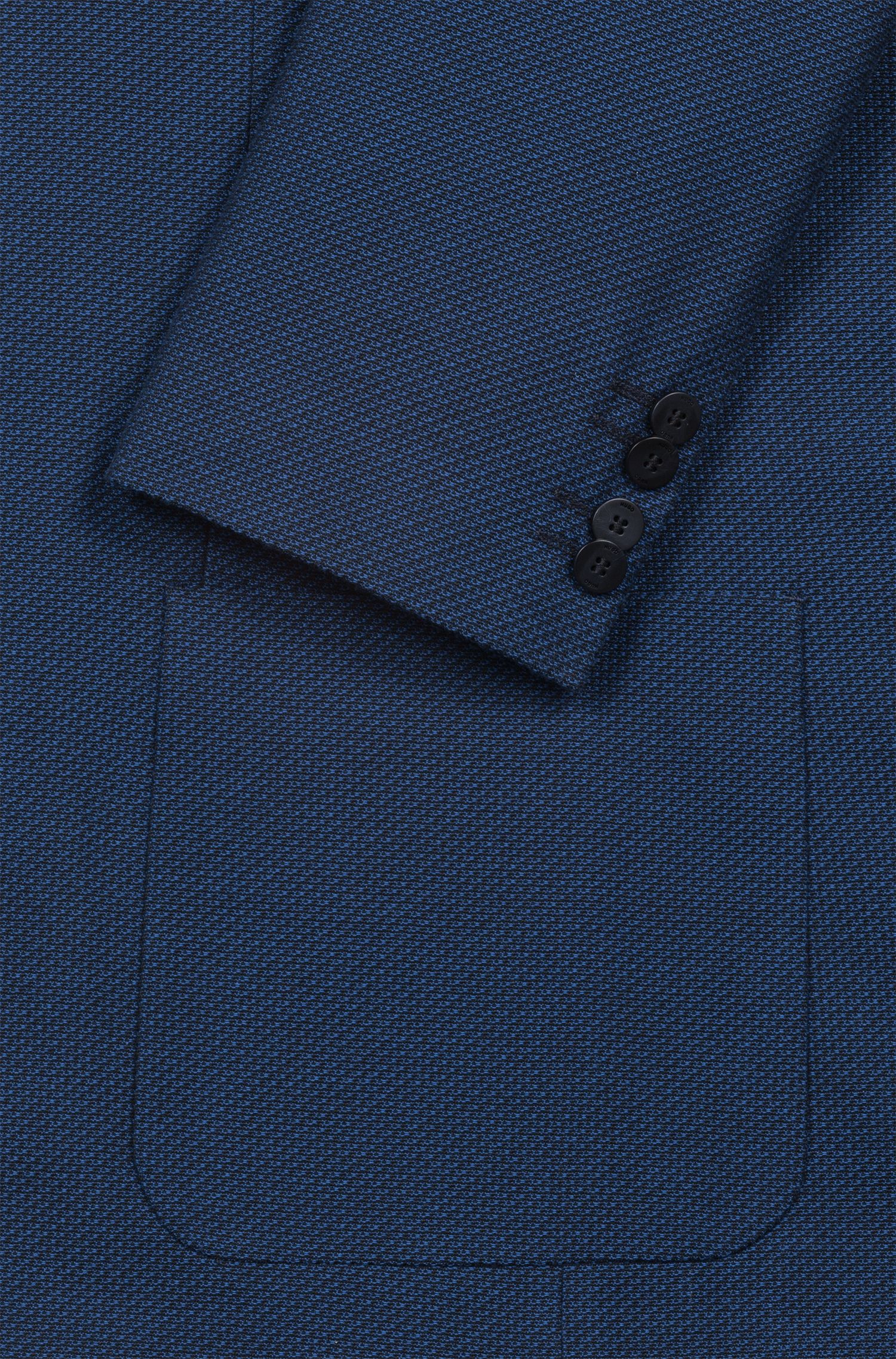 Slim-fit jacket with cut-logo lining, Blue