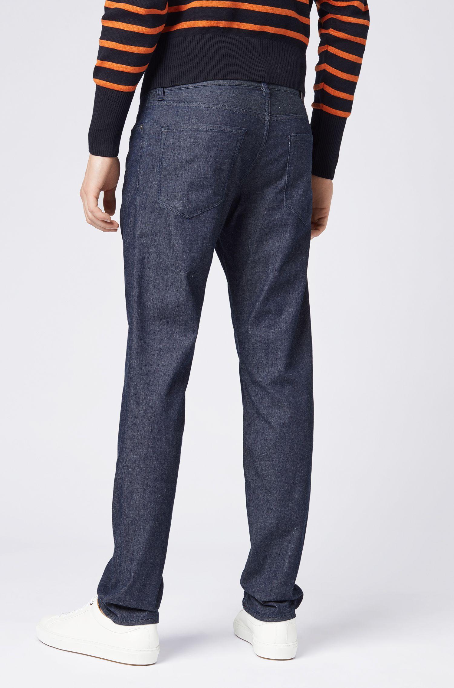 Lightweight regular-fit jeans in dark-blue BCI denim, Dark Blue