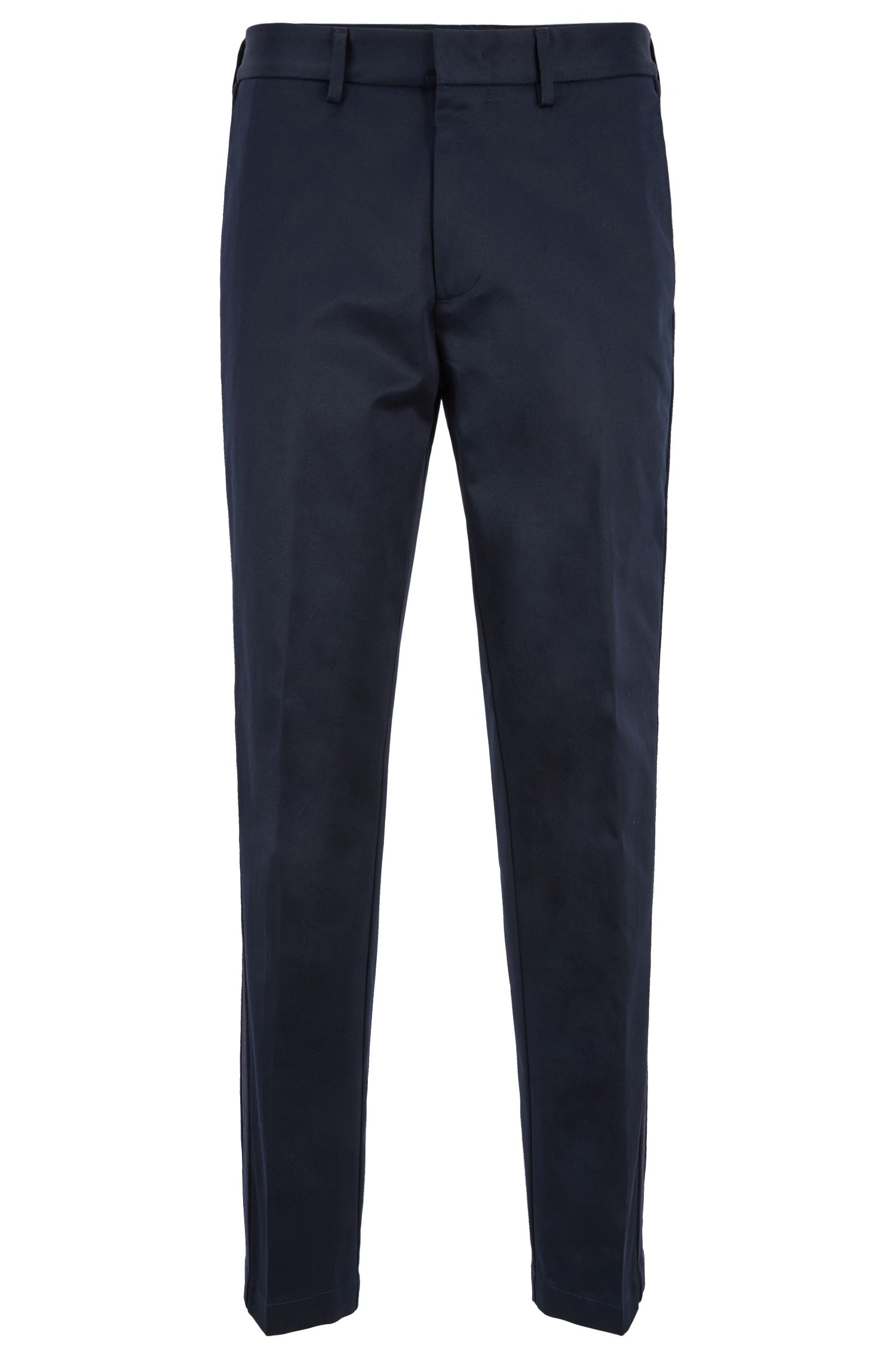 Relaxed-fit pants with side-seam tape, Dark Blue